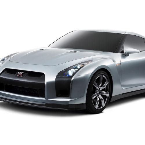 Download Dark Gray Nissan GT R Wallpaper For iPad 2 500x500