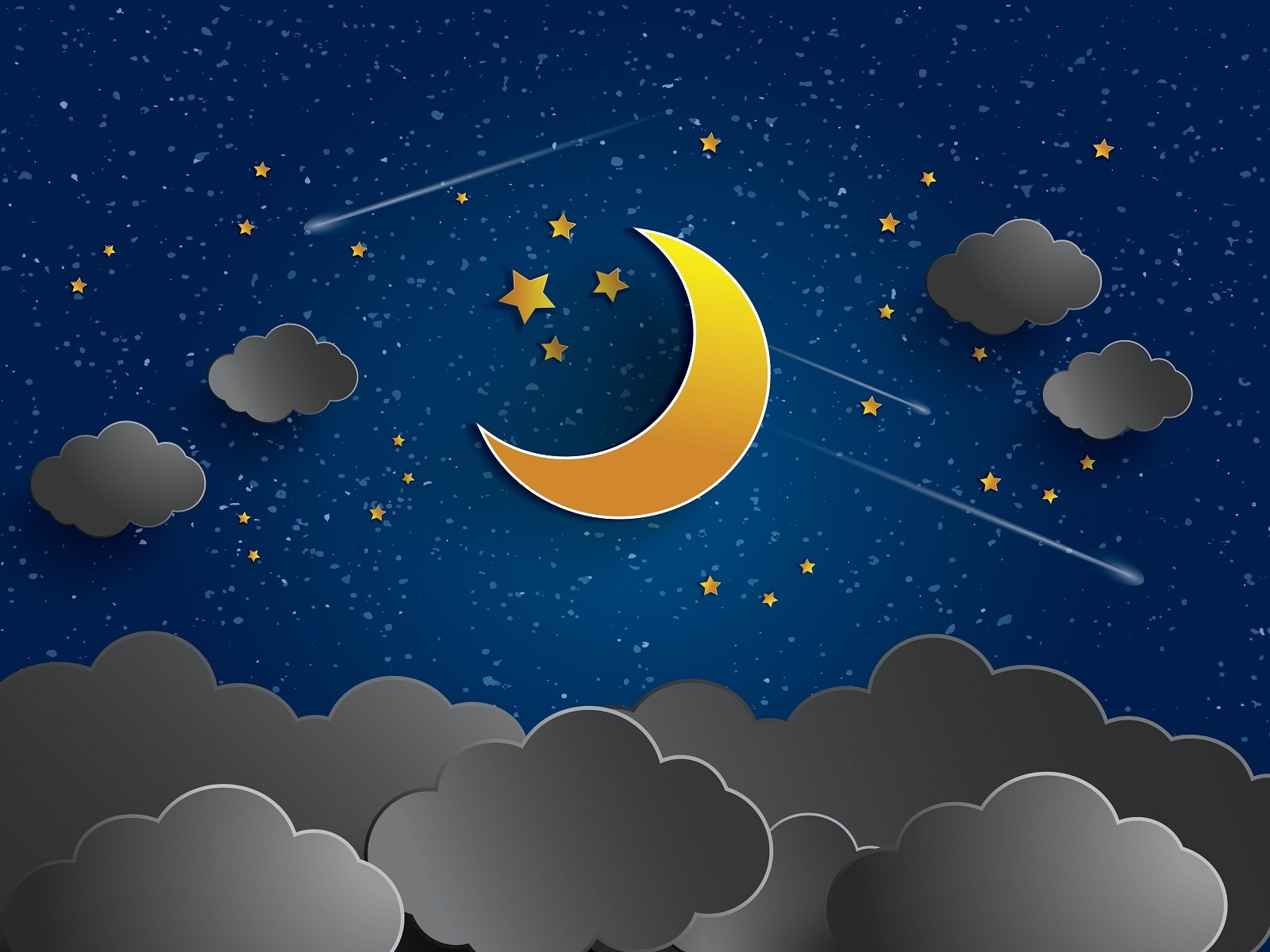 Good night wishes animated sky HD Wallpapers Rocks 1600x1200