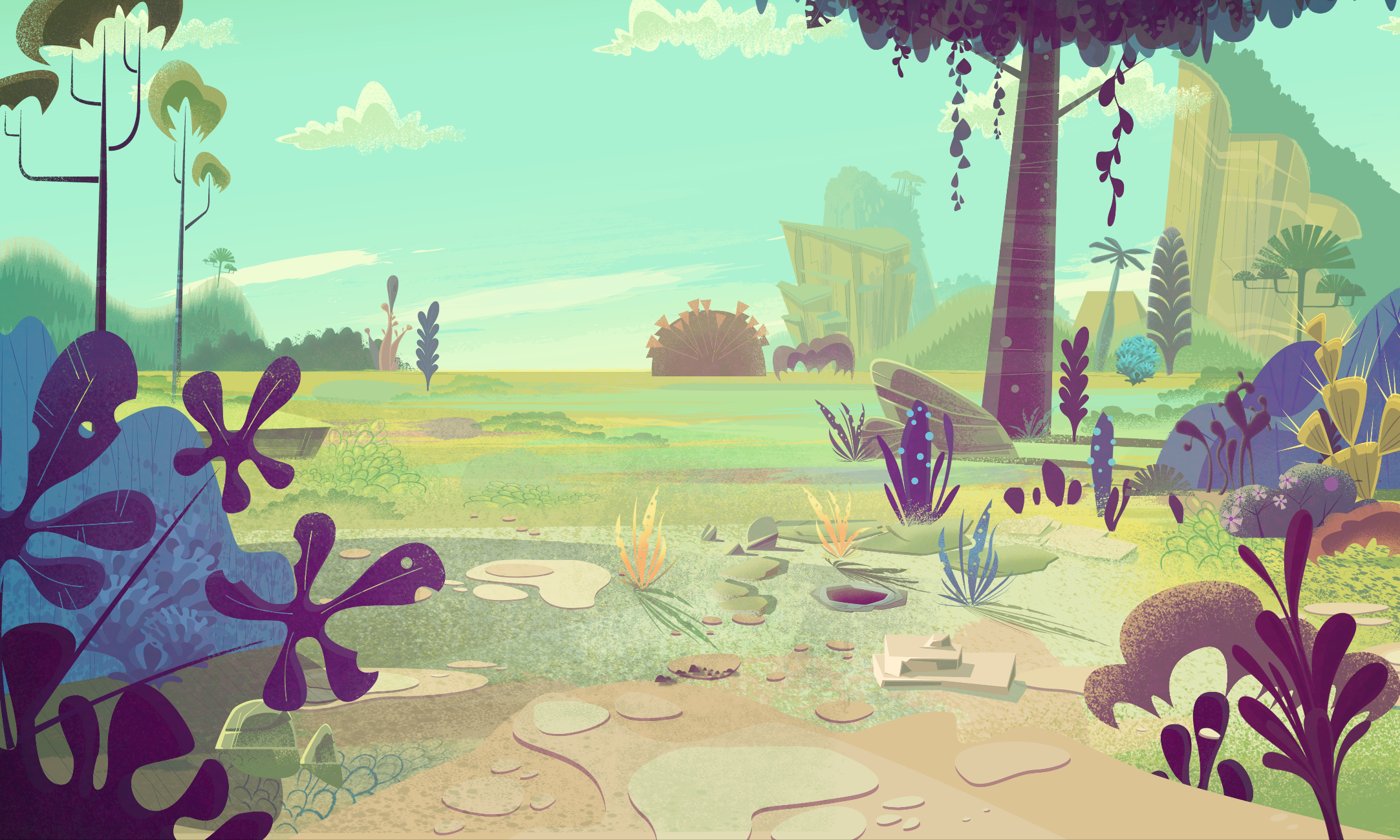Animation backgrounds for a Cartoon pitch Cartoon background 2165x1299