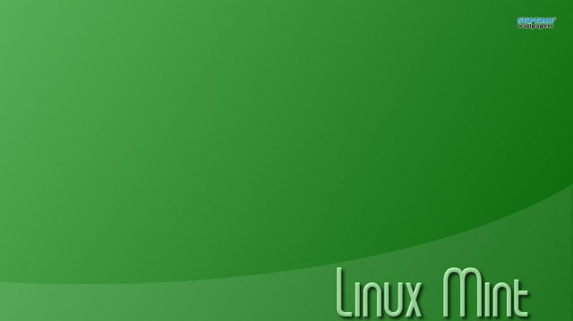 Linux Mint Font Green Background HD Wallpaper Image Download 640x359
