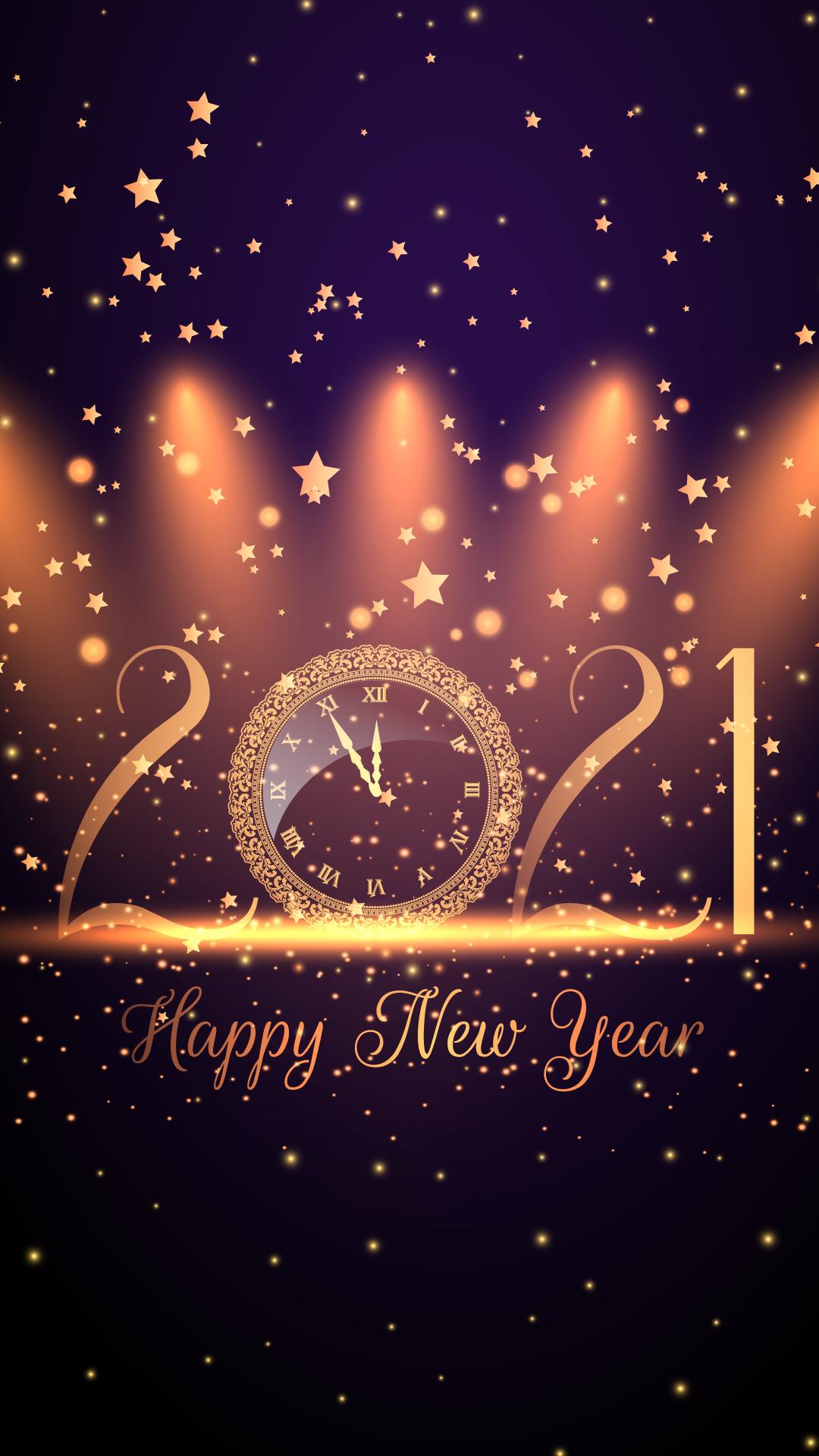 Happy New Year 2021 HD Wallpaper 1080x1920