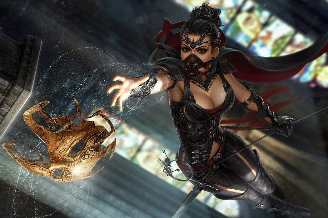 Wallpaper 1080p HD Video Game Beautiful Anime Girl Warrior Fight Scene 1050x700