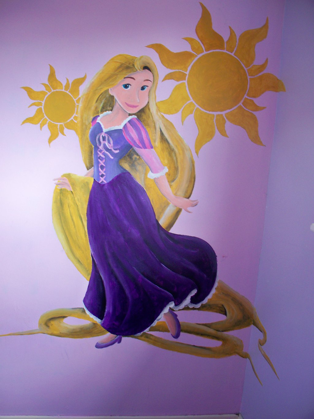 Rapunzel wall mural by billywallwork525 1024x1365