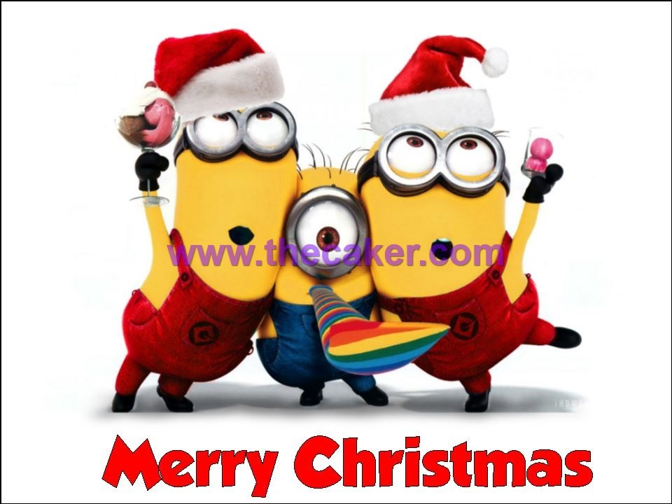 despicable me christmas minions red background wallpapers hd - Minion Merry Christmas