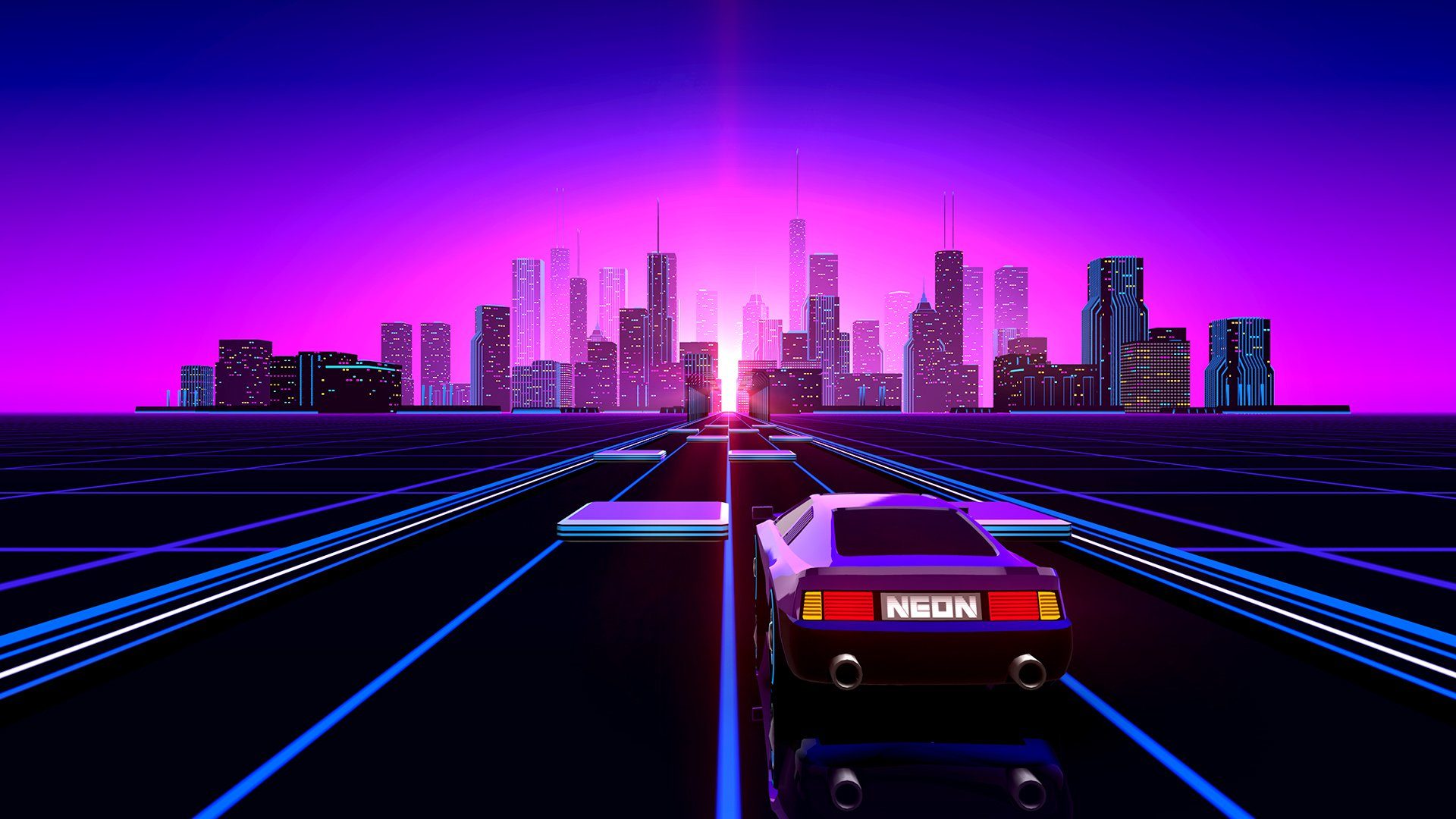 118 Retro Wave HD Wallpapers Background Images 1920x1080