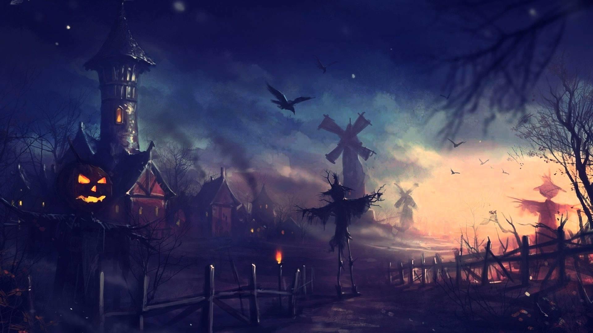Spooky Halloween Night 1920x1080 wallpaper 1920x1080