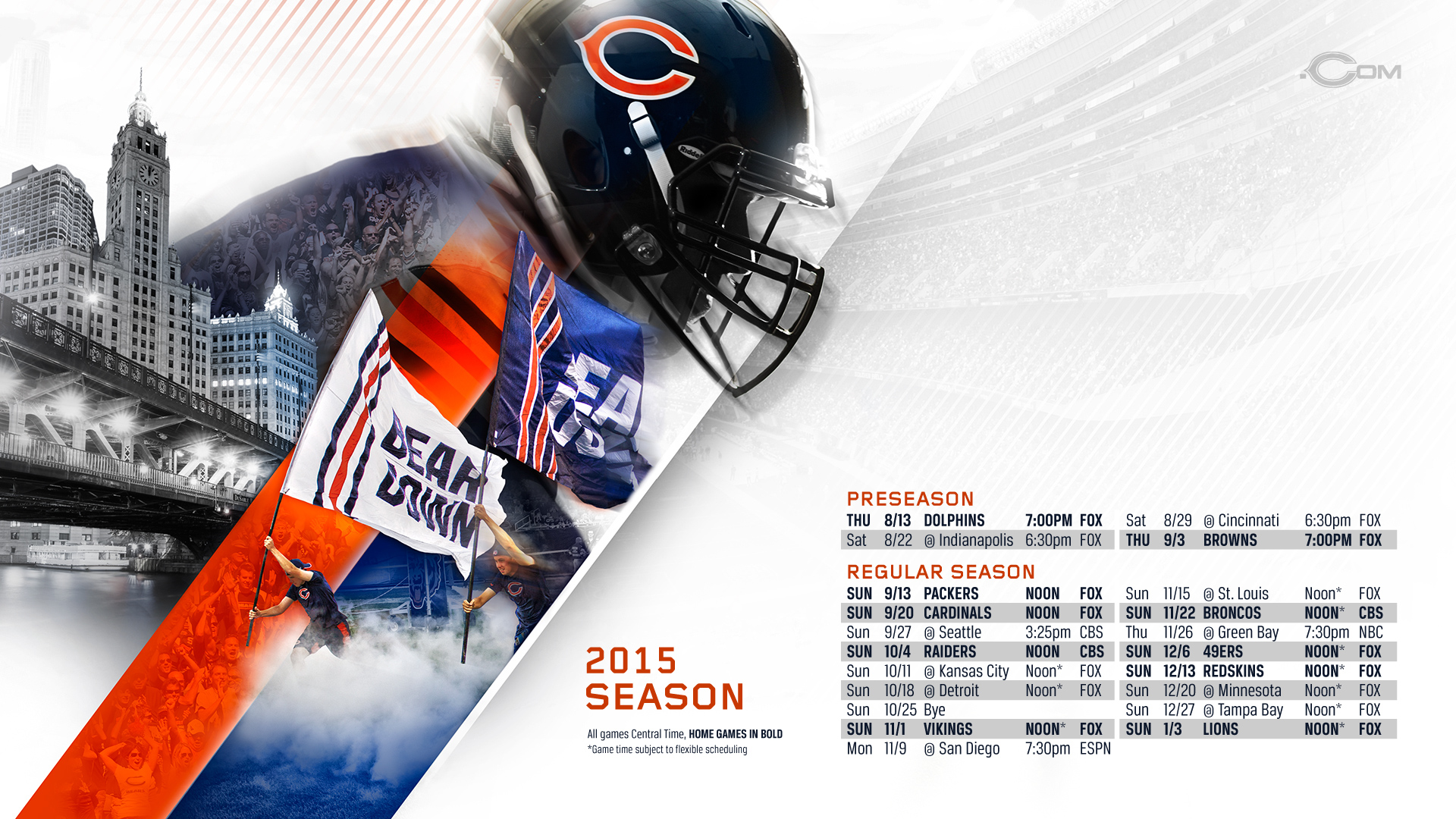 chicago bears 2015 schedule Car Tuning 1920x1080