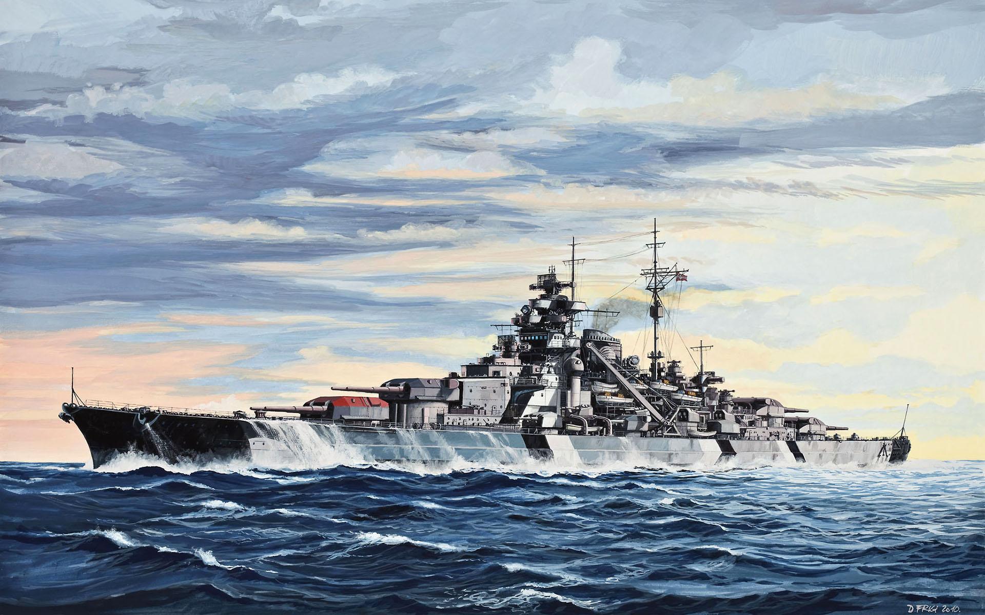 11 Bismarck Battleship Wallpaper 66217   DFILES 1109 :: Battleship ...
