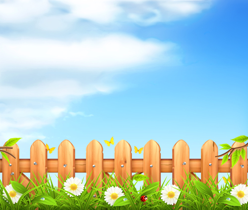 Summer with Flowers Backgrounds 04   Vector Background download 500x425