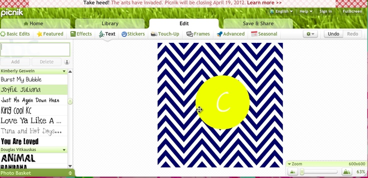 Make Your Own Monogram Desktop Wallpaper My style Pinterest 736x357