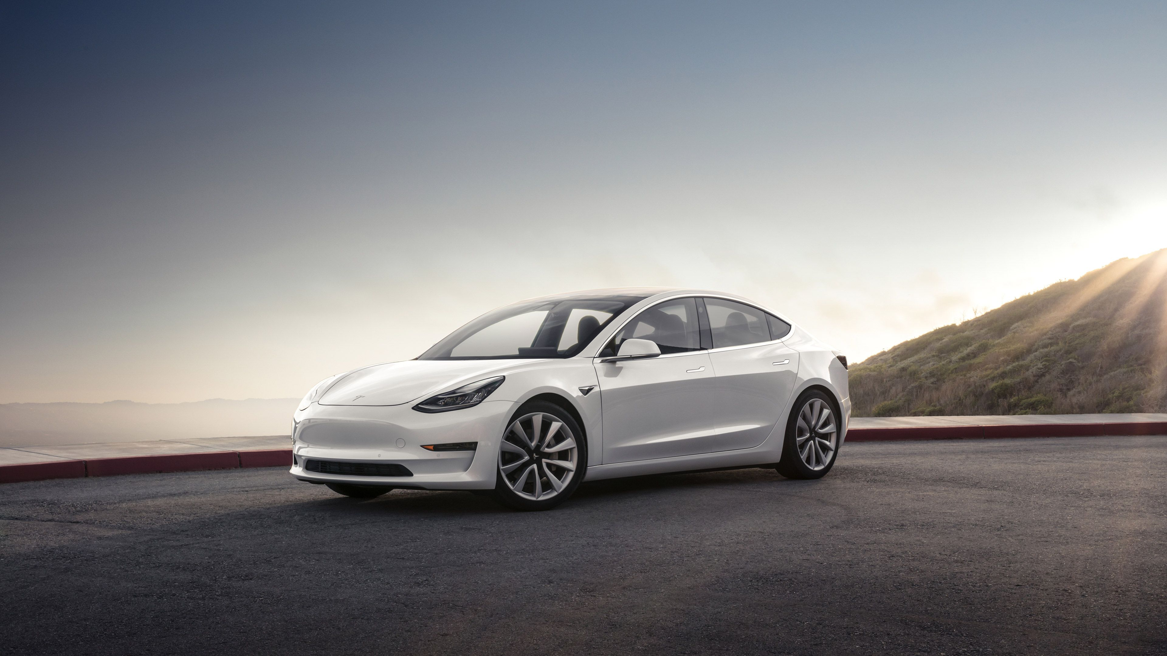 White Tesla Model 3 Wallpapers   Top White Tesla Model 3 3840x2160