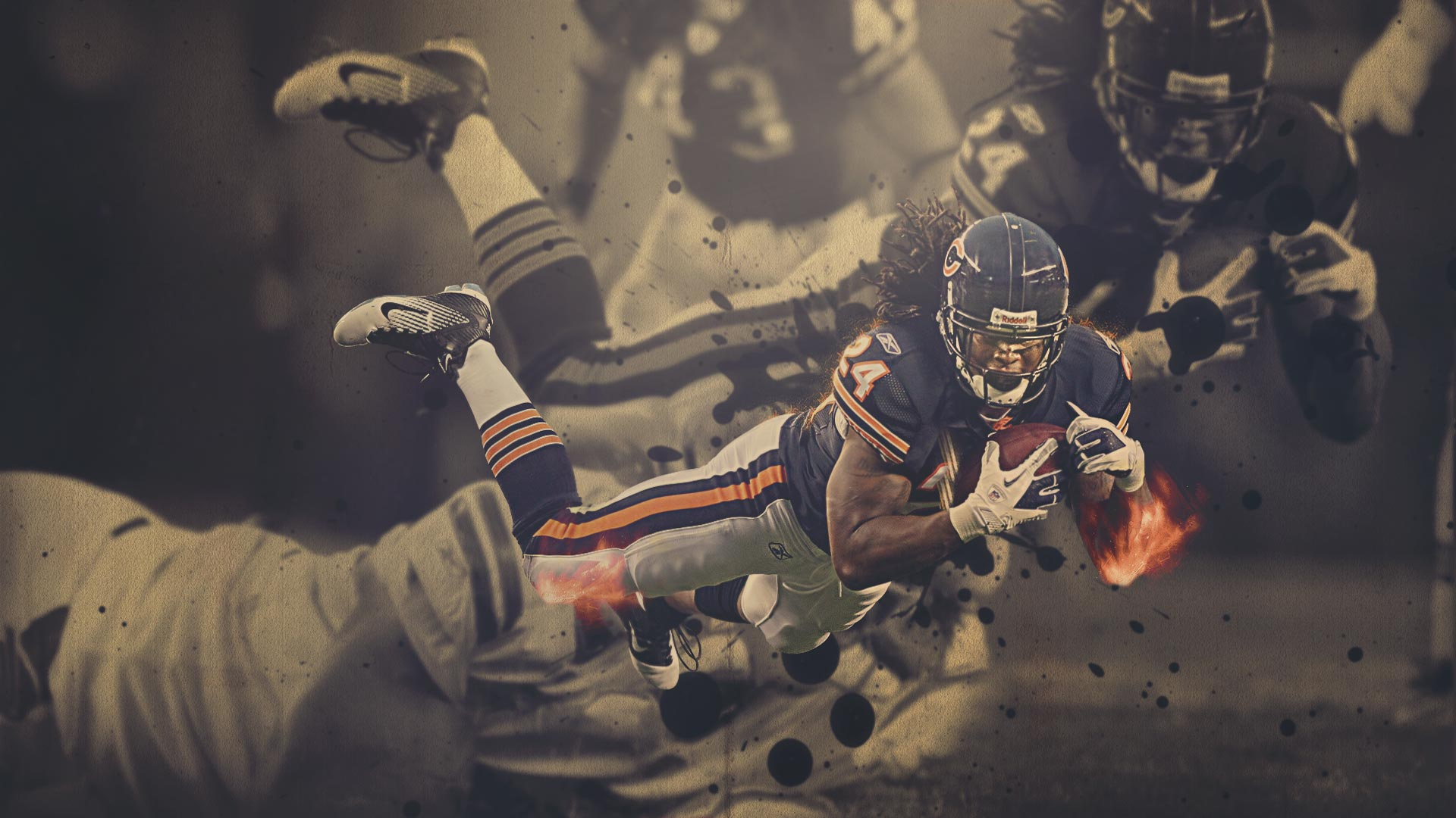 Wallpapers   Marion Barber Chicago Bears 1920x1080 wallpaper 1920x1080