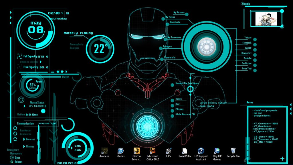 Iron Man Jarvis Wallpaper HD - WallpaperSafari
