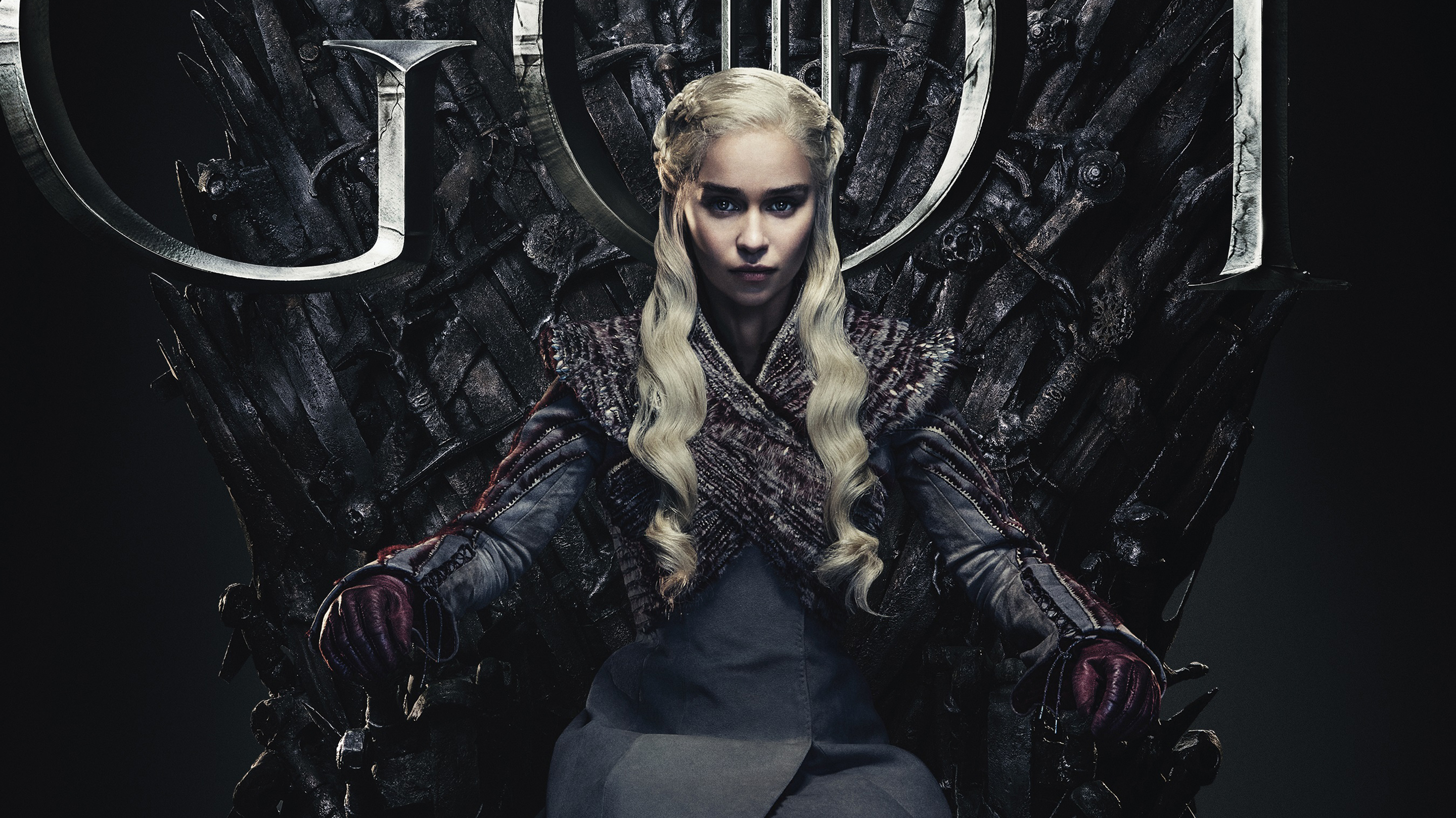 Emilia Clarke in Game of Thrones Final Season 8 2019 Wallpapers 2880x1620