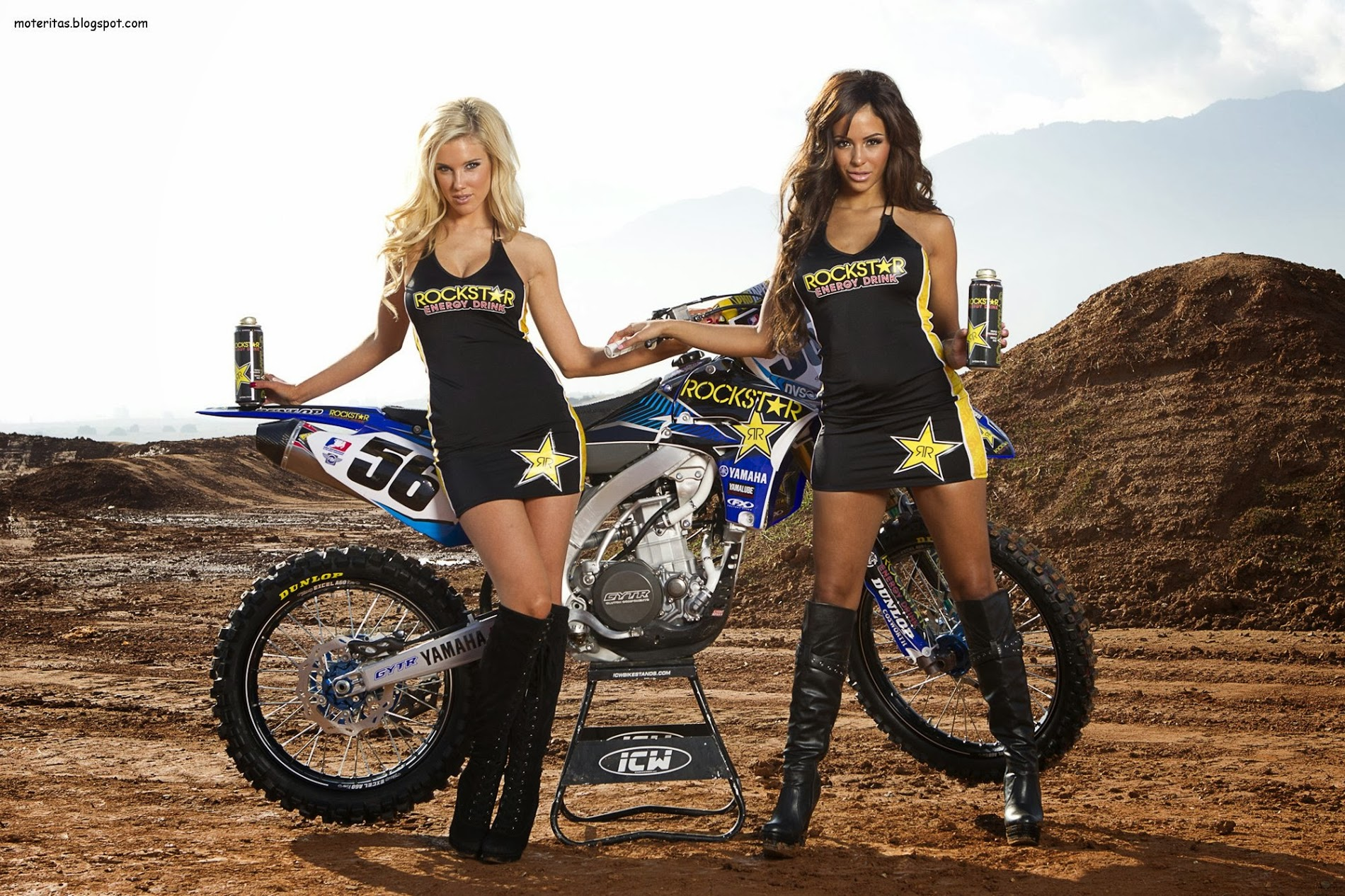 supercross motorcycle bike girls woman blonde hd pc desktop wallpaper 1900x1266