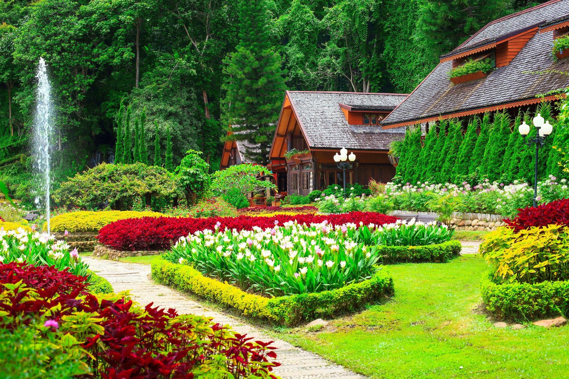 Hd garden wallpaper wallpapersafari for Garden images