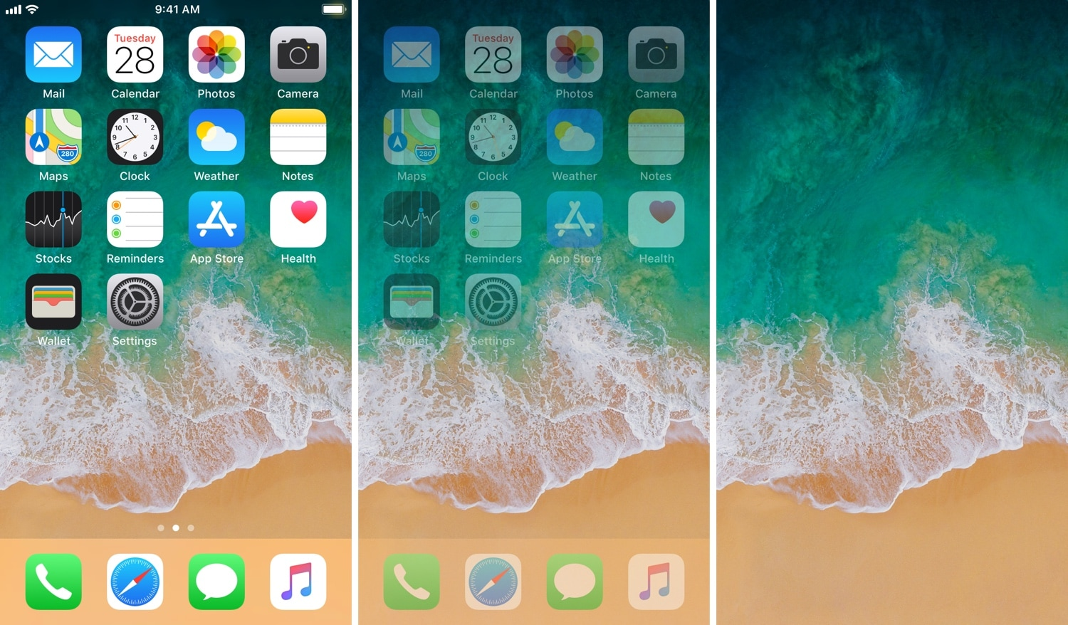 EvanescoXI brings focus to your Home screen wallpaper after inactivity 1500x878