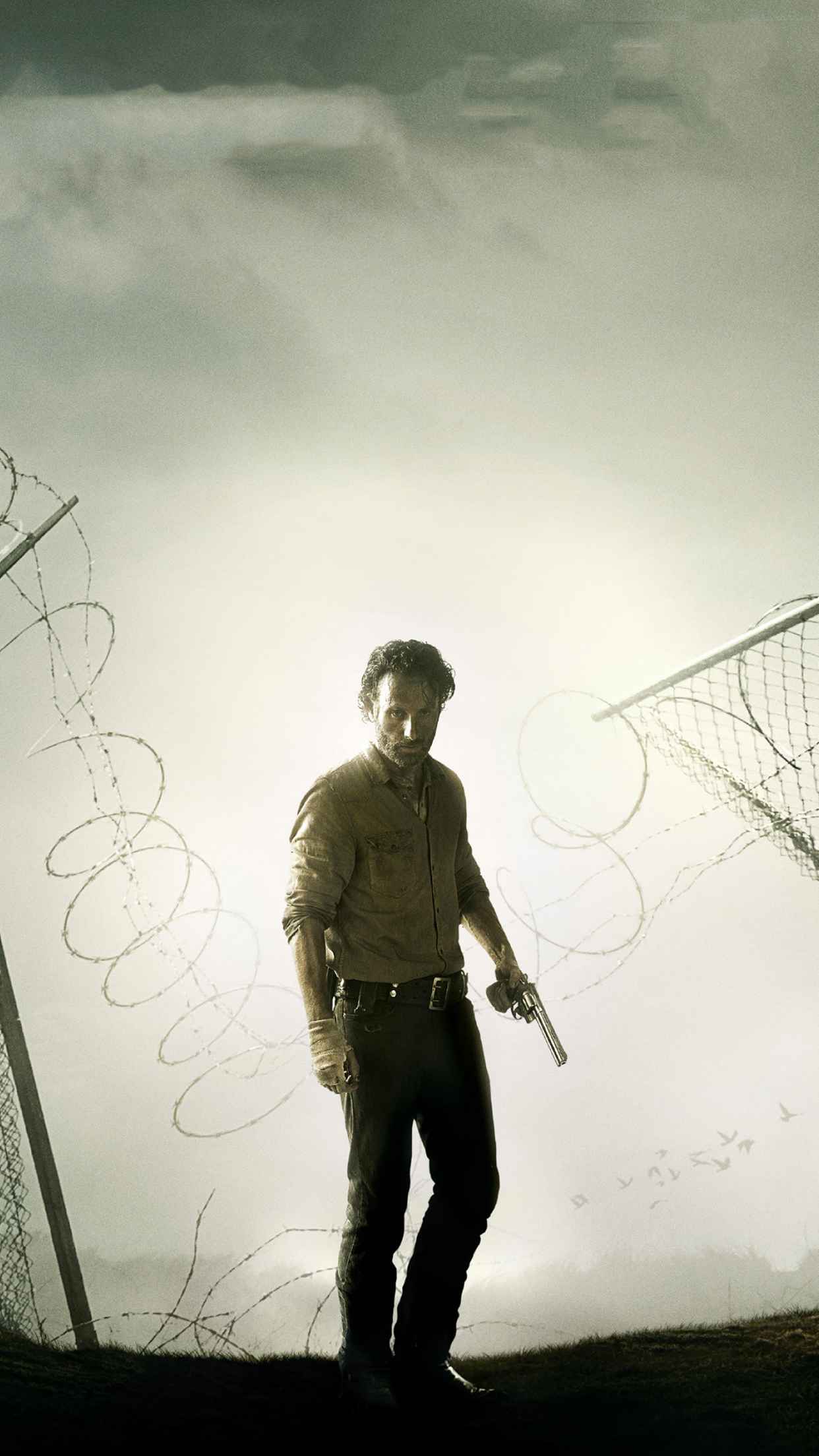 The walking dead rick iPhone 3Wallpapers Parallax Les 3 Wallpapers 1242x2208