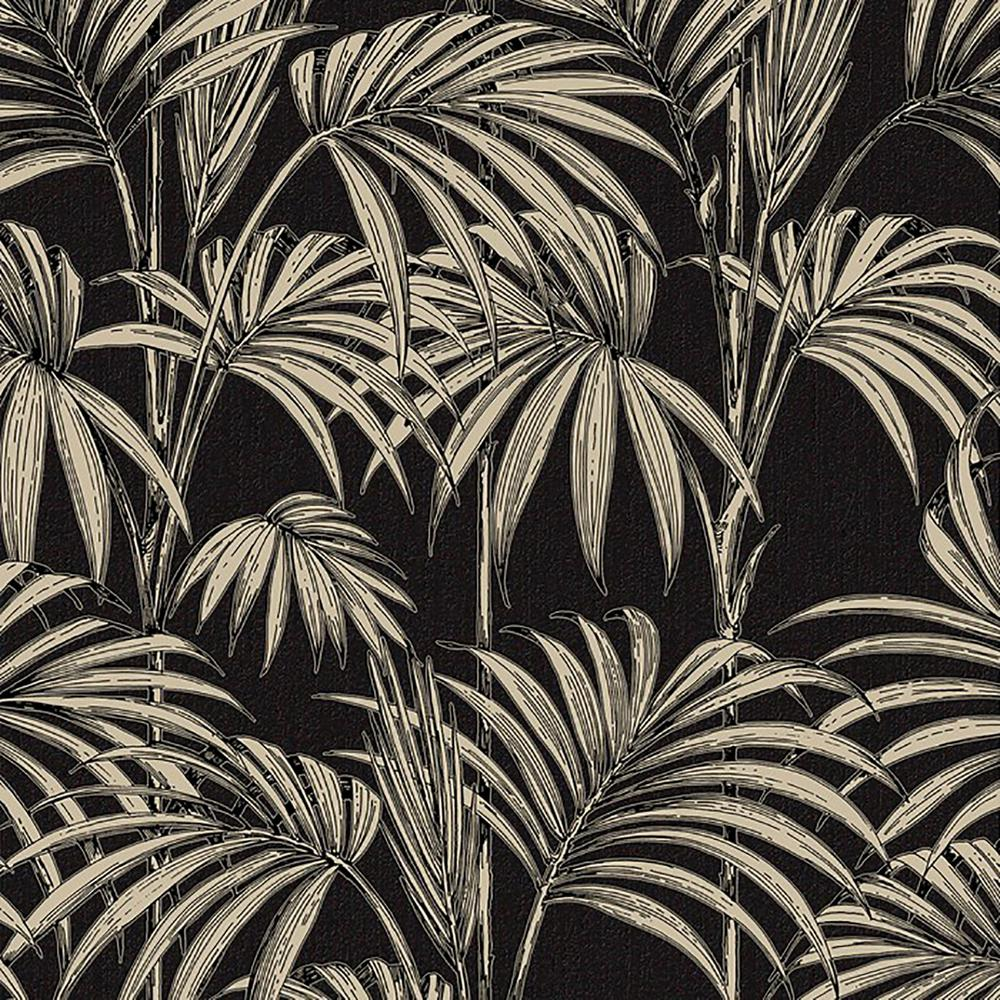 Black and Gold Honolulu Wallpaper in 2019 BATHROOM Brown 1000x1000