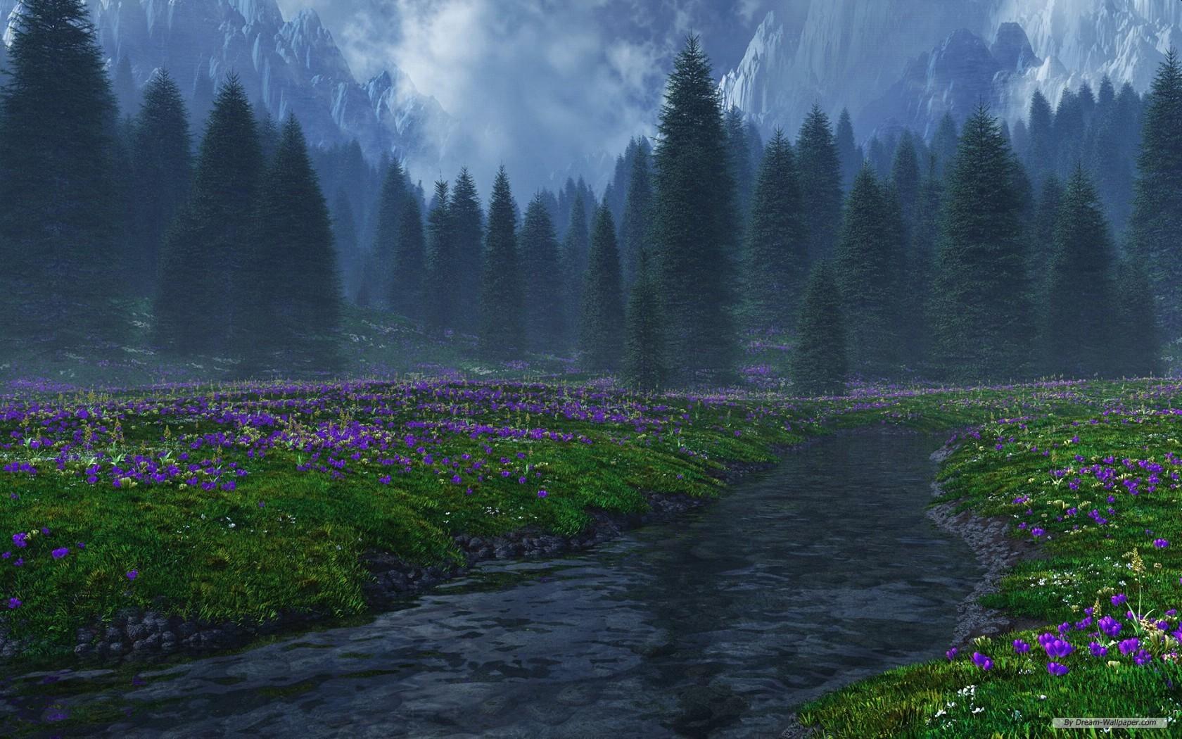 Nature Wallpaper 3D Landscape Desktop 9591 Wallpaper 1680x1050