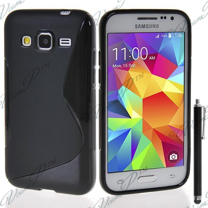 NOIR pour Samsung Galaxy Core Prime/ SM-G360F G360GY G360P G360BT/DS ...