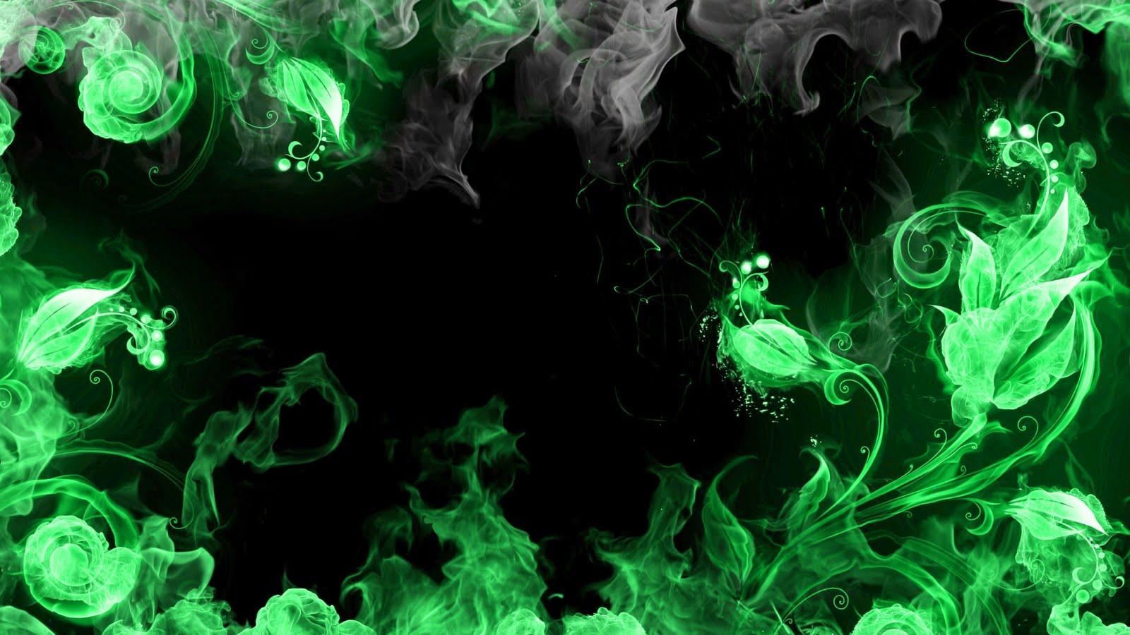 Download Artistic Skulls wallpaper green flaming skulls 1600x900