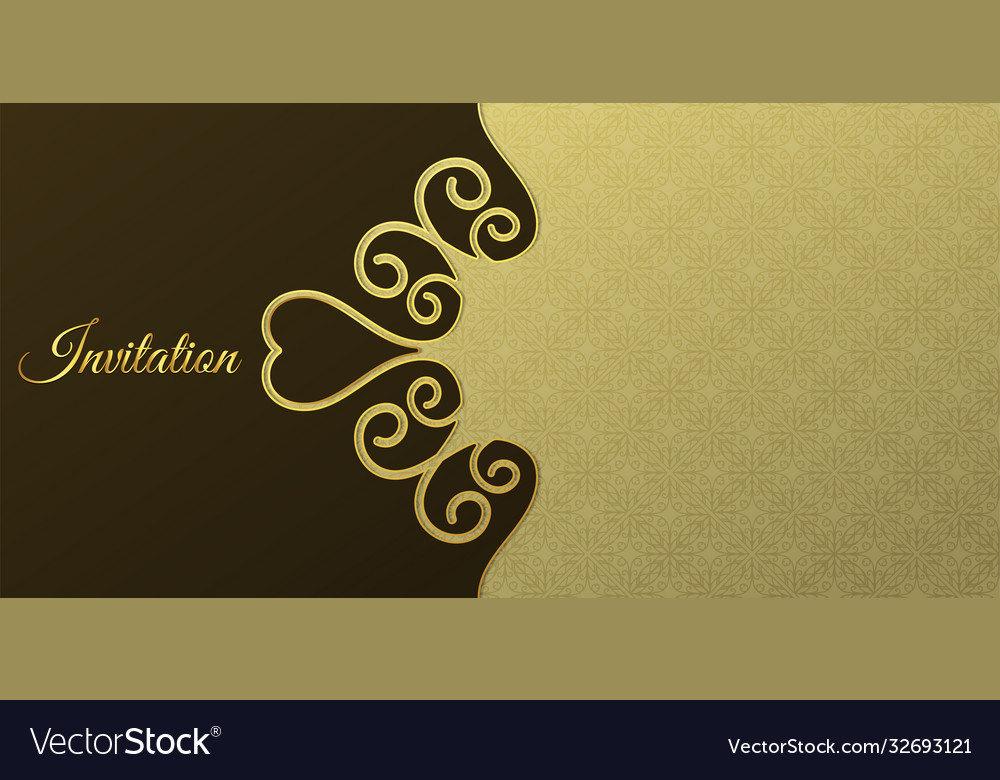 Luxury invitation backgrounds Royalty Vector Image 1000x780