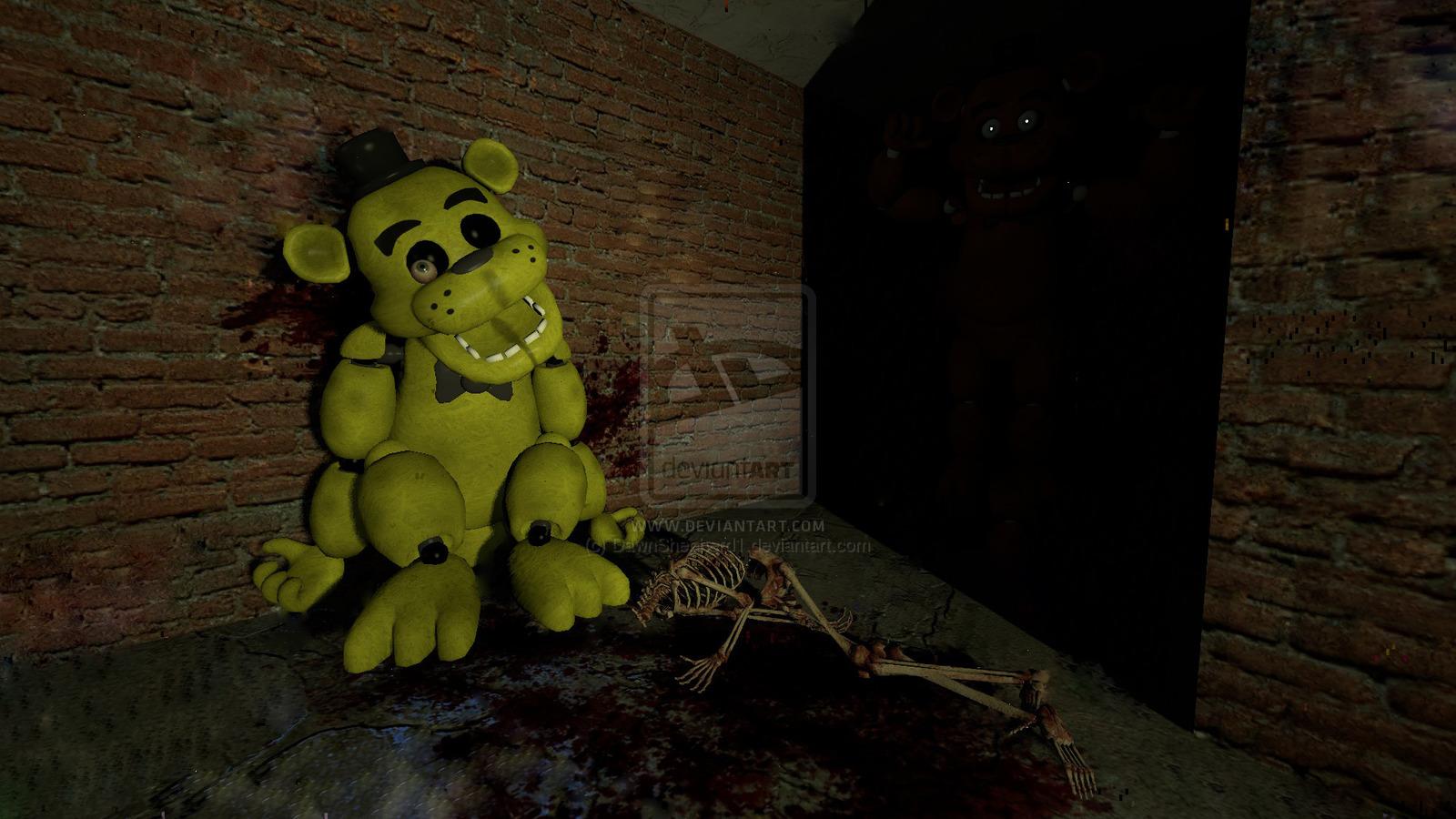 Five Nights at Freddys   Golden Freddy Stuffed by 1600x900