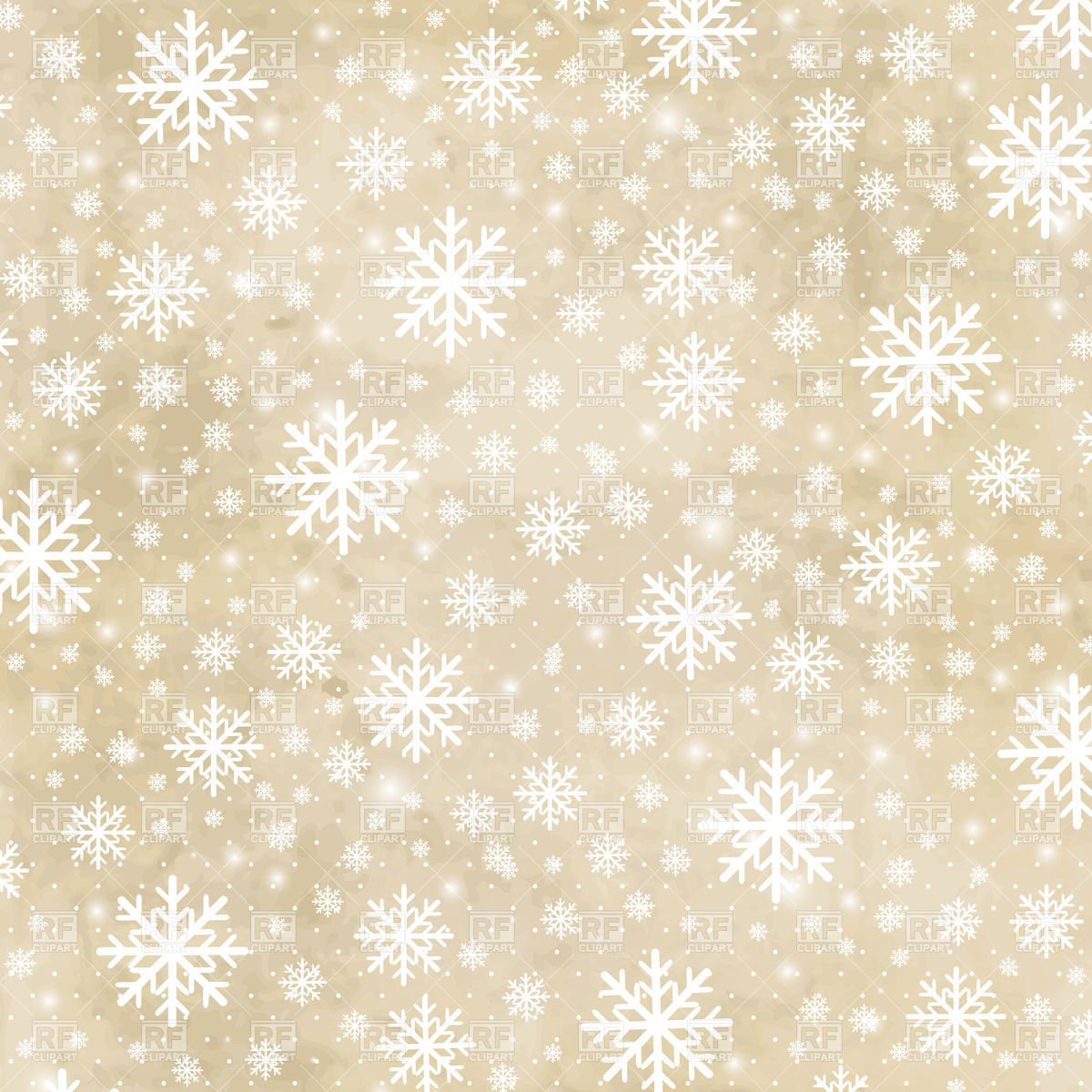 White snowflakes on beige grunge background 27773 Backgrounds 1200x1200