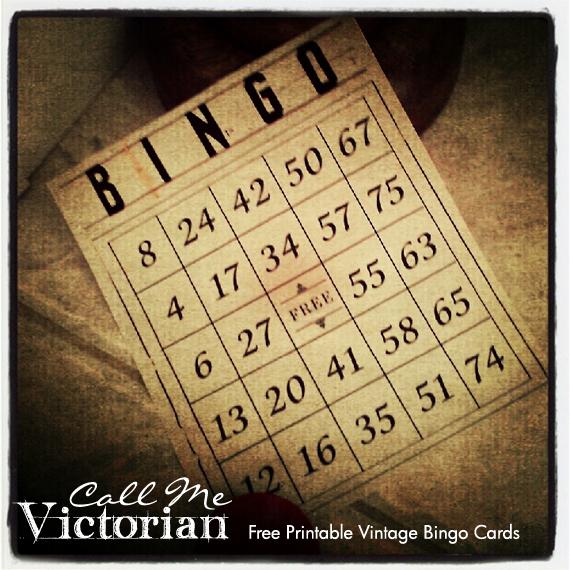 Printable Vintage Bingo Cards Call Me Victorian 570x570