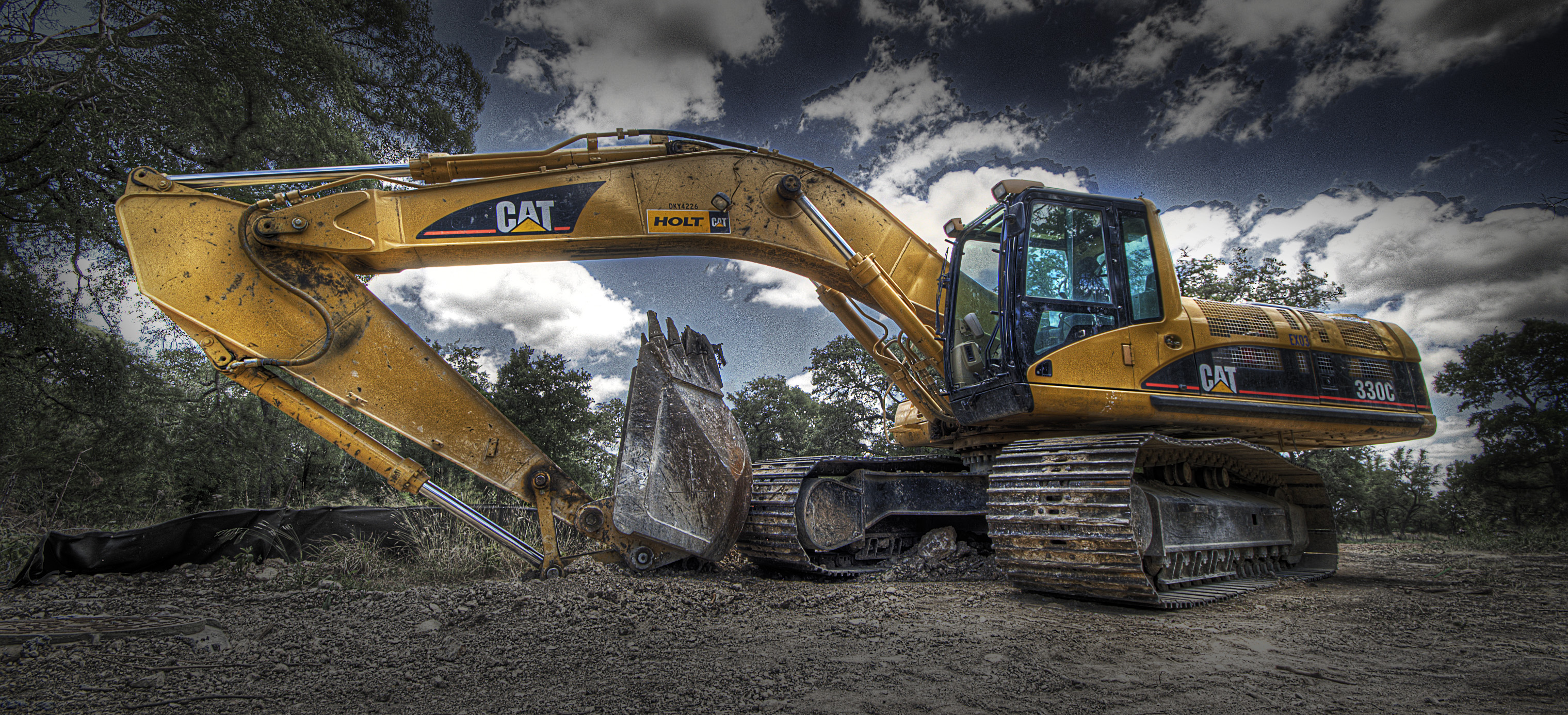 Caterpillar Machines Wallpaper 3039x1386