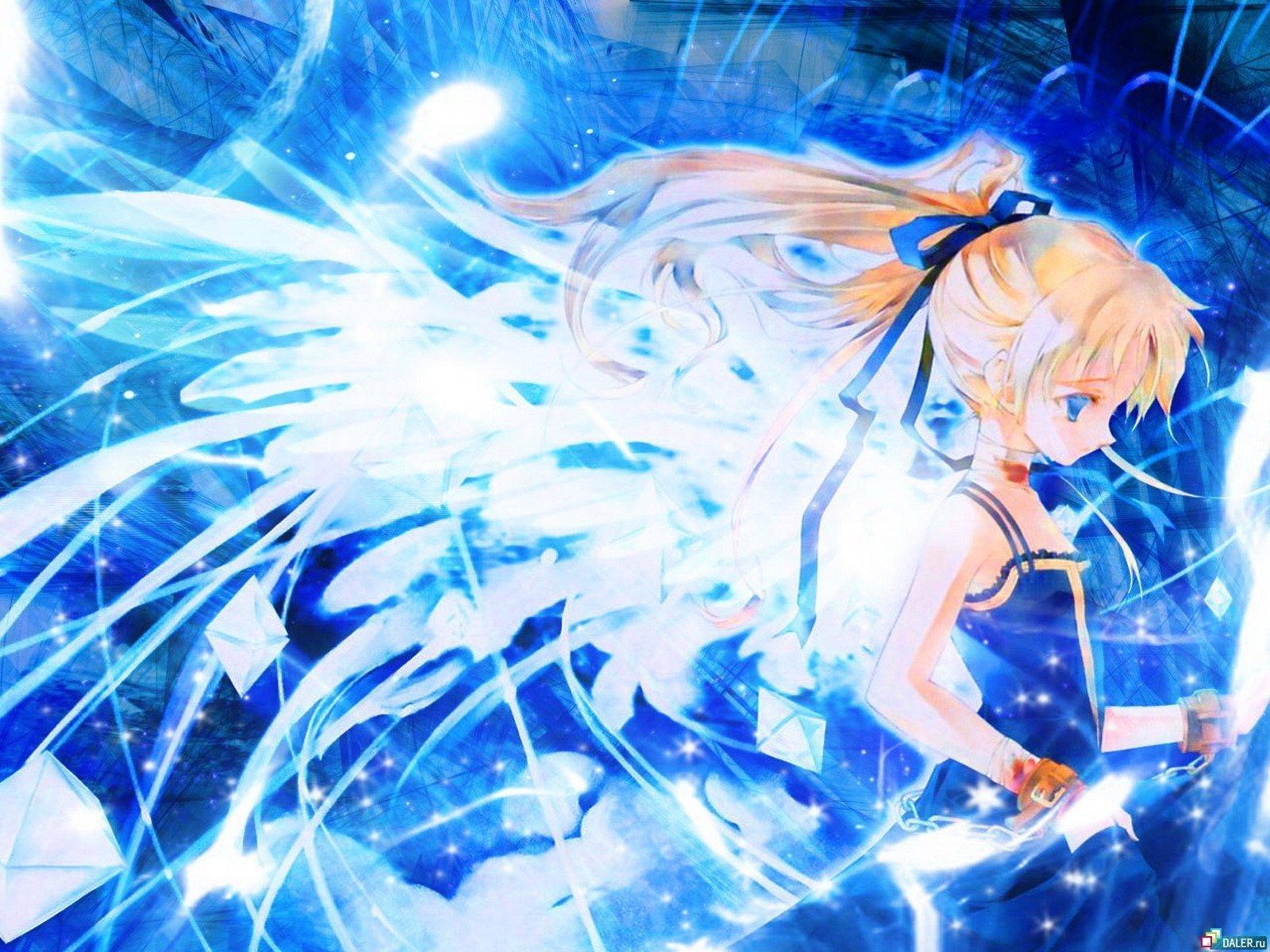 blue anime wallpaper   Anime Photo 11442170 1600x1200