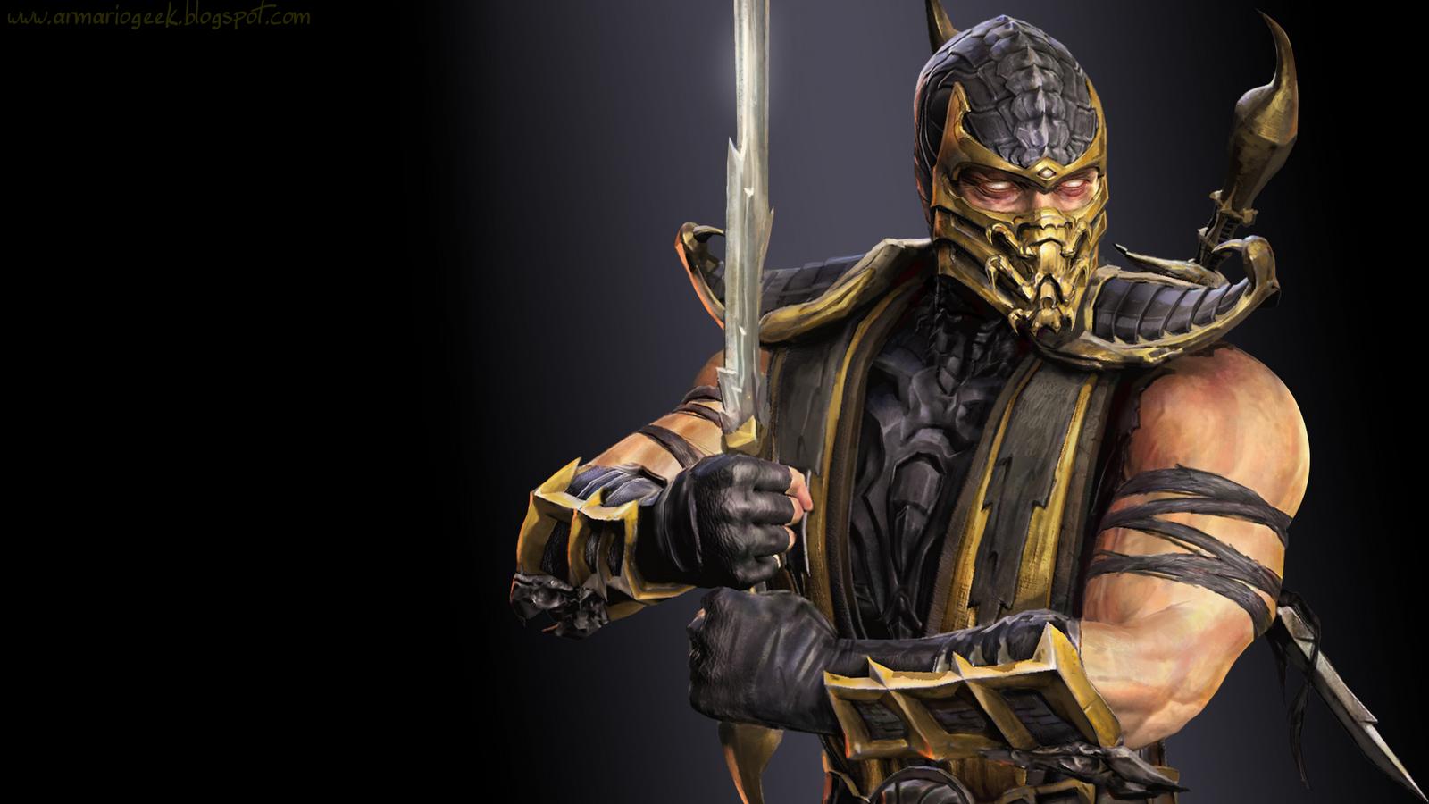 Wallpaper] Mortal Kombat IX Scorpion Armario Geek 1600x900