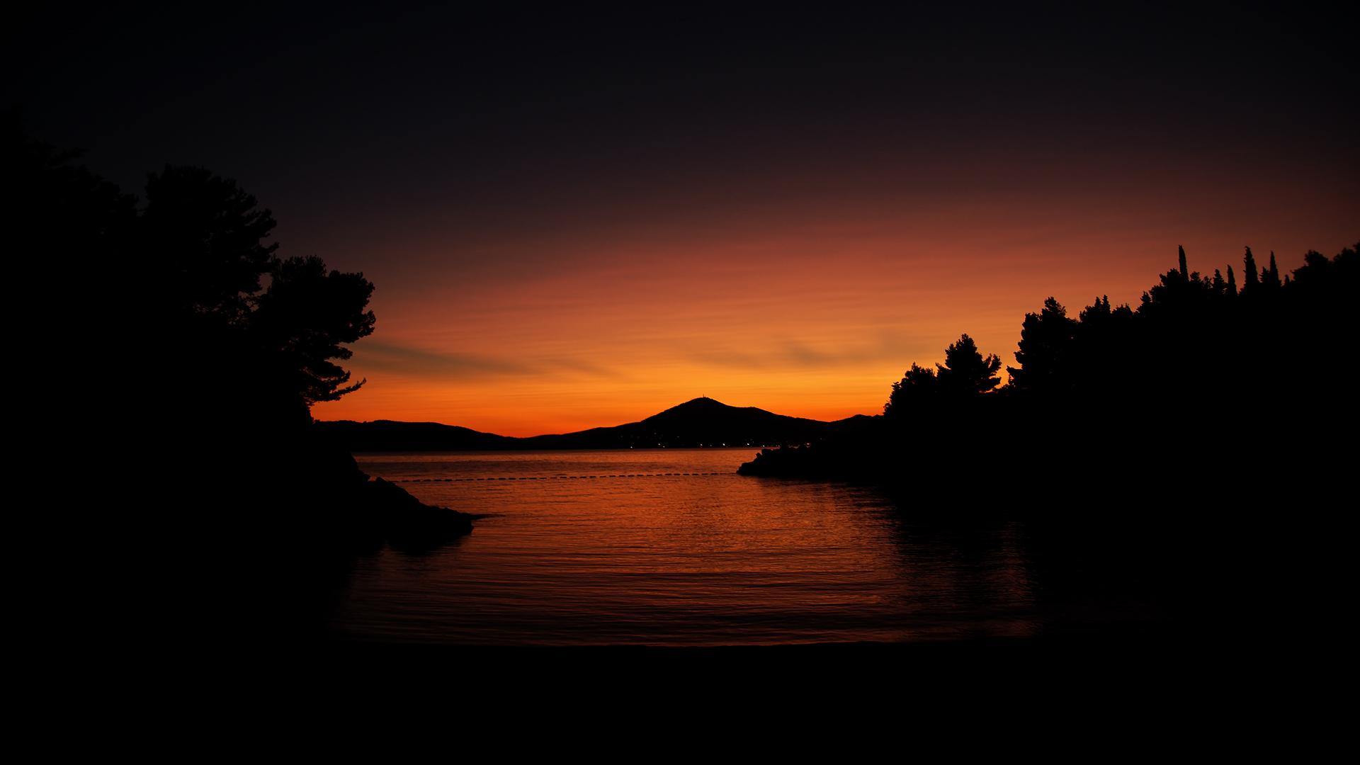 Nature Soleil Sunset Levers Ecran Full HD desktop wallpaper 1920x1080