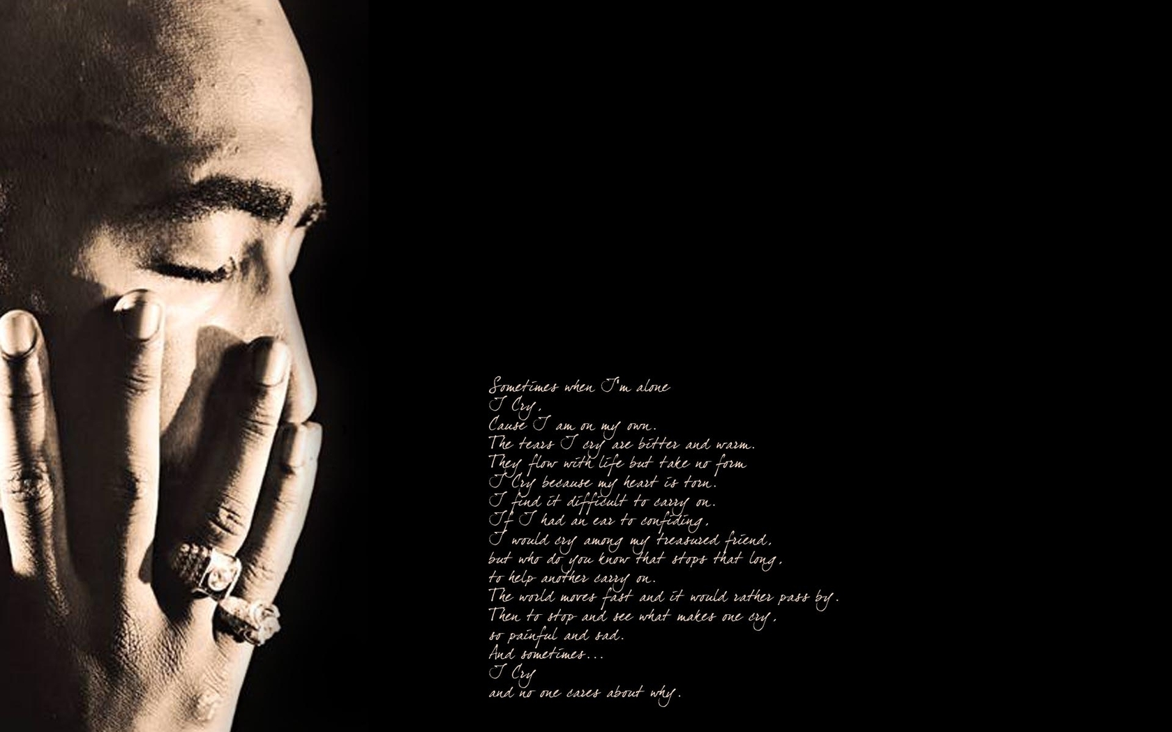 Tupac Shakur quote wallpaper 1680x1050