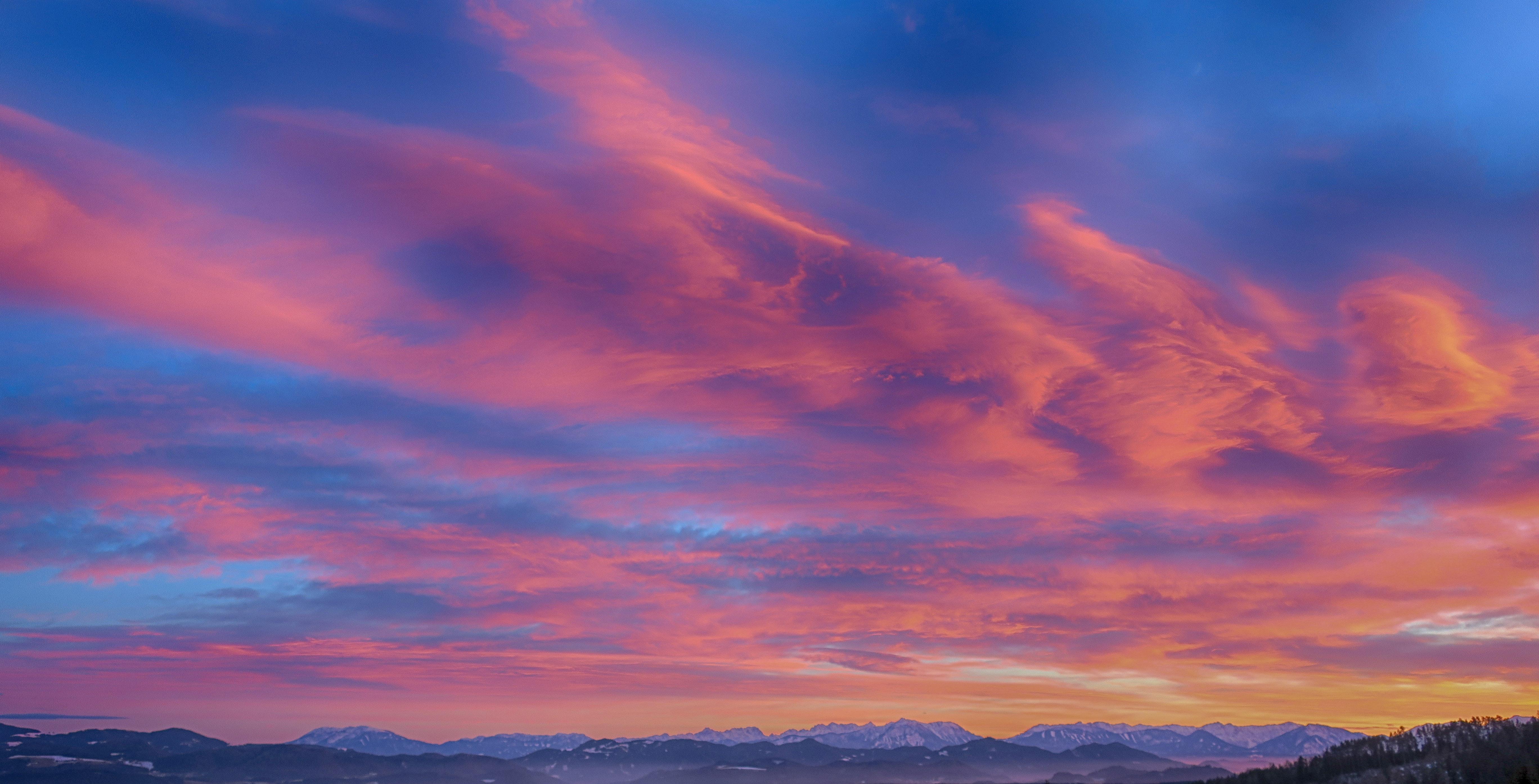 Twilight landscape beautiful sunset coast desktop wallpaper Gallery 5472x2788