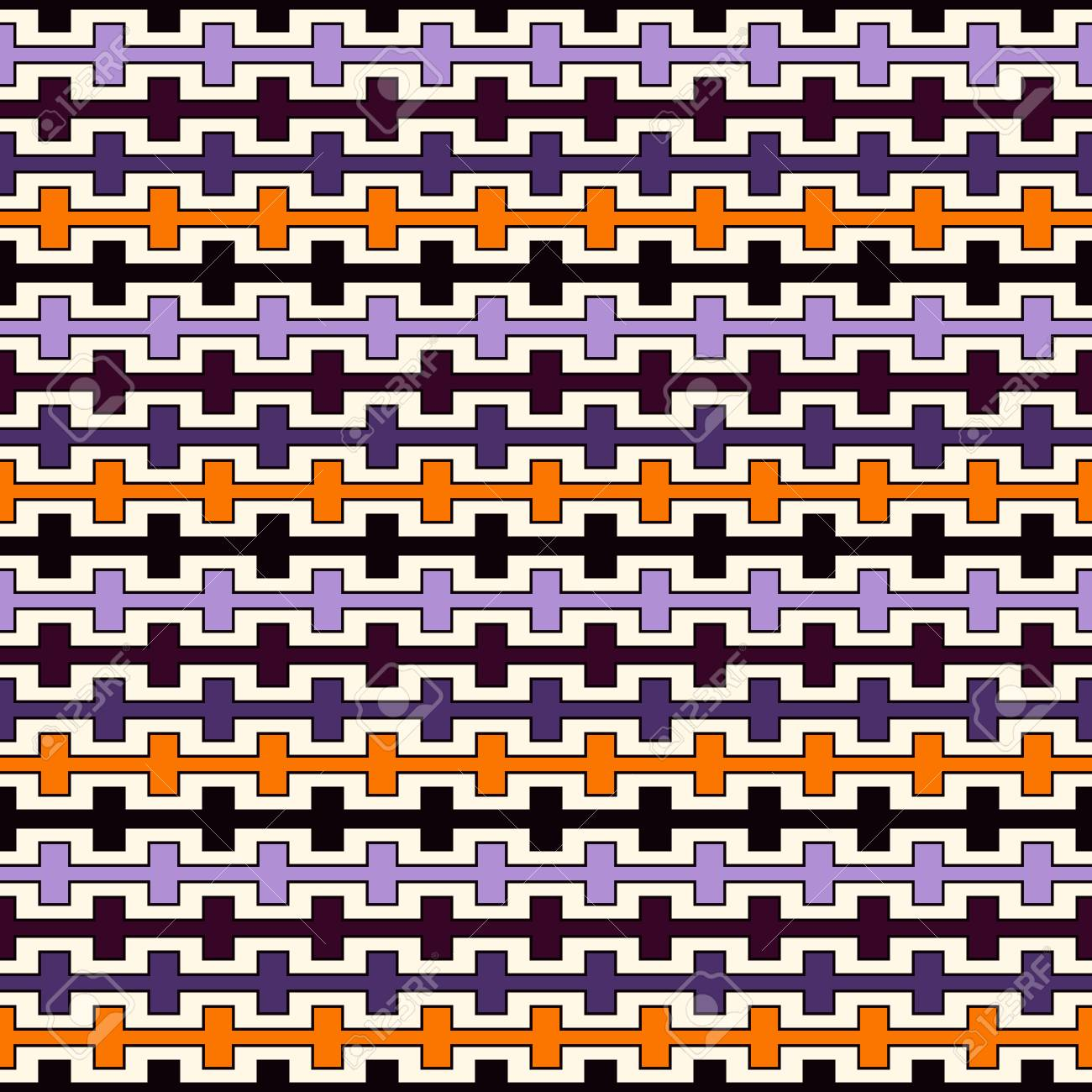 Halloween Traditional Colors Seamless Pattern With Battlement 1300x1300