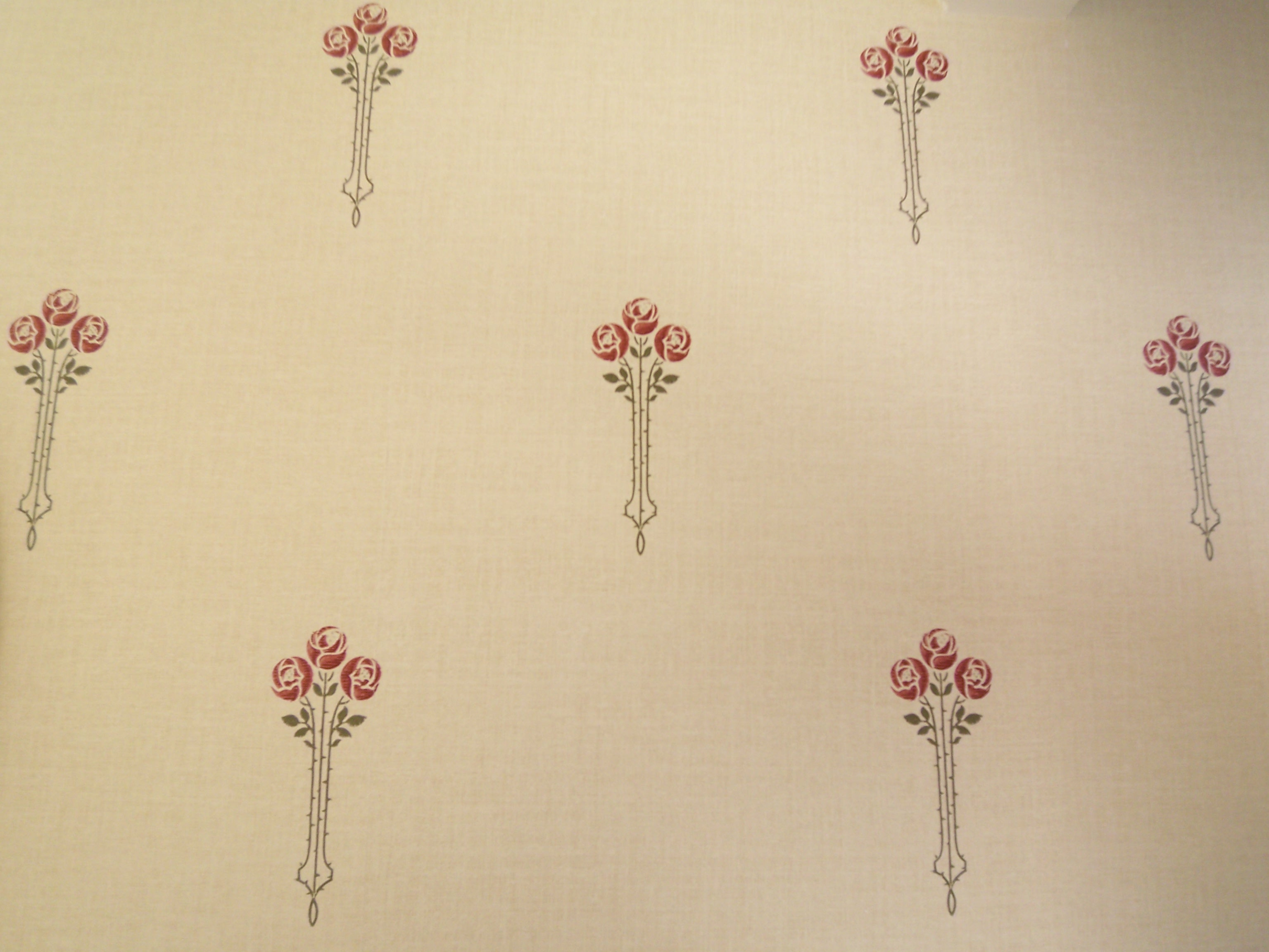 DETAIL ARTS AND CRAFTS REPRODUCTION WALLPAPER tHE dARD rOSE 3072x2304