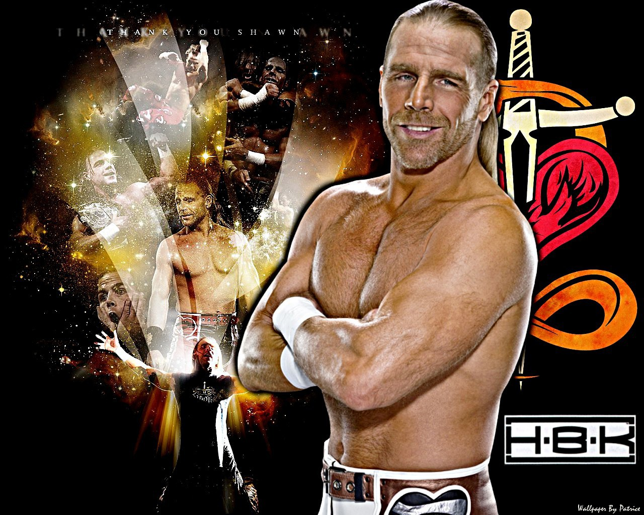 WWE Superstar Shawn Michaels HD wallpapers 1280x1024