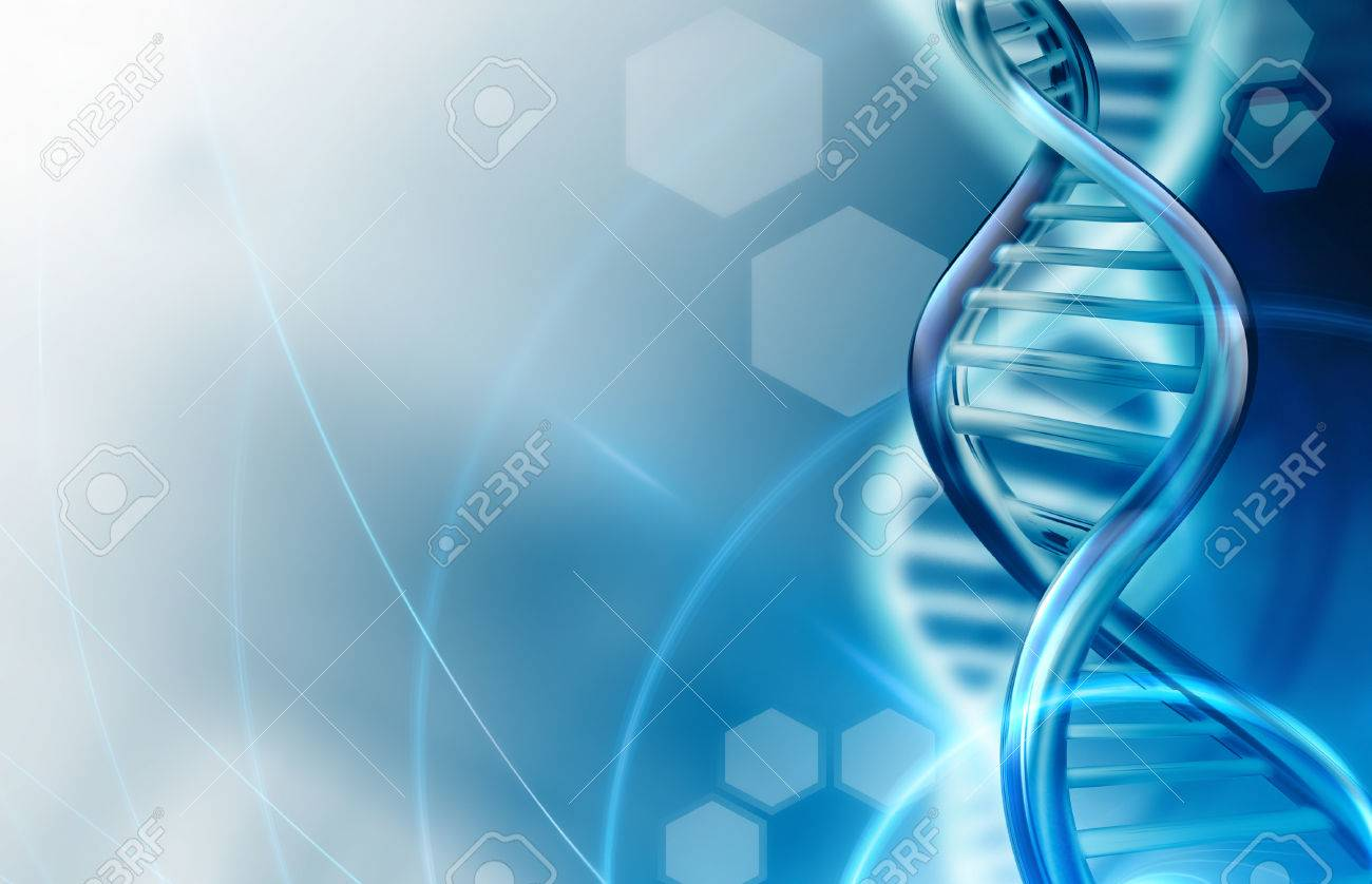 Abstract Science Background With DNA Strands Stock Photo Picture 1300x838