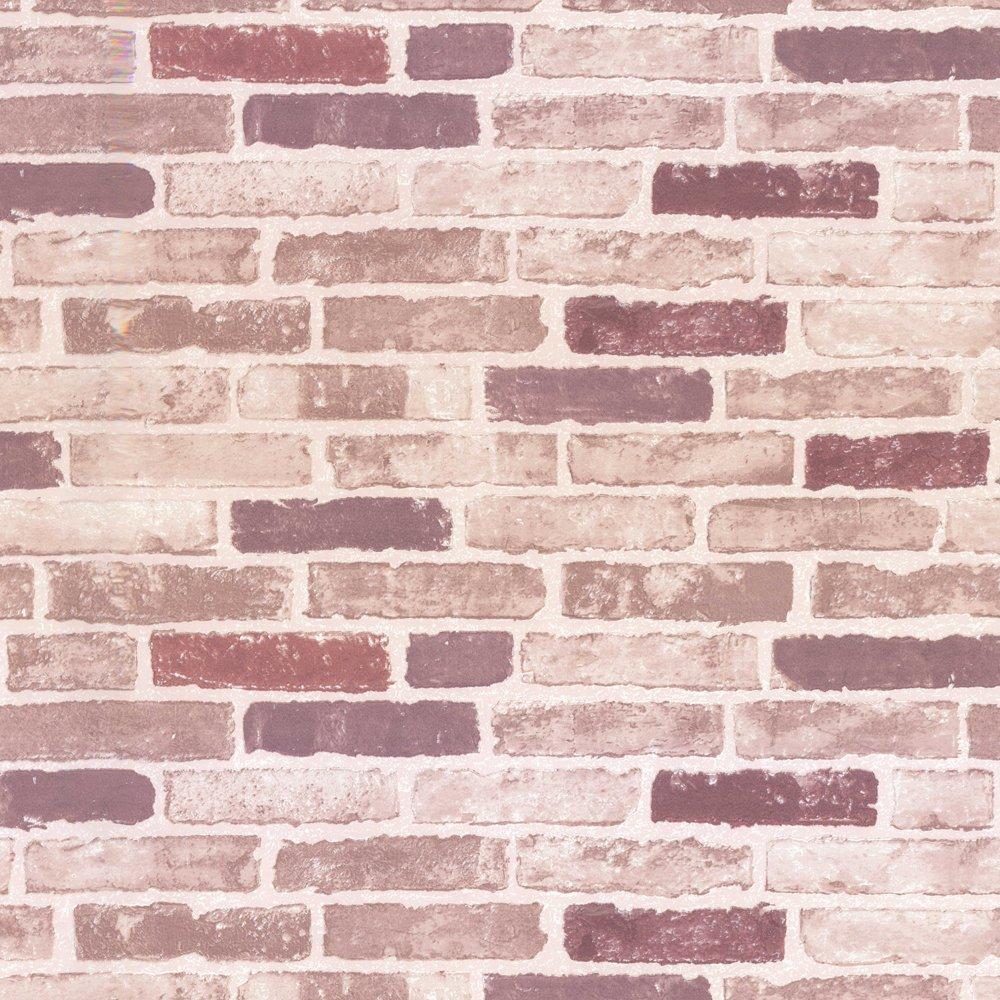 Red Brick Effect Wallpaper   Erismann from I love wallpaper UK 1000x1000