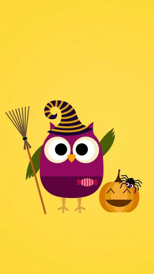 46 Halloween Owl Wallpapers On Wallpapersafari