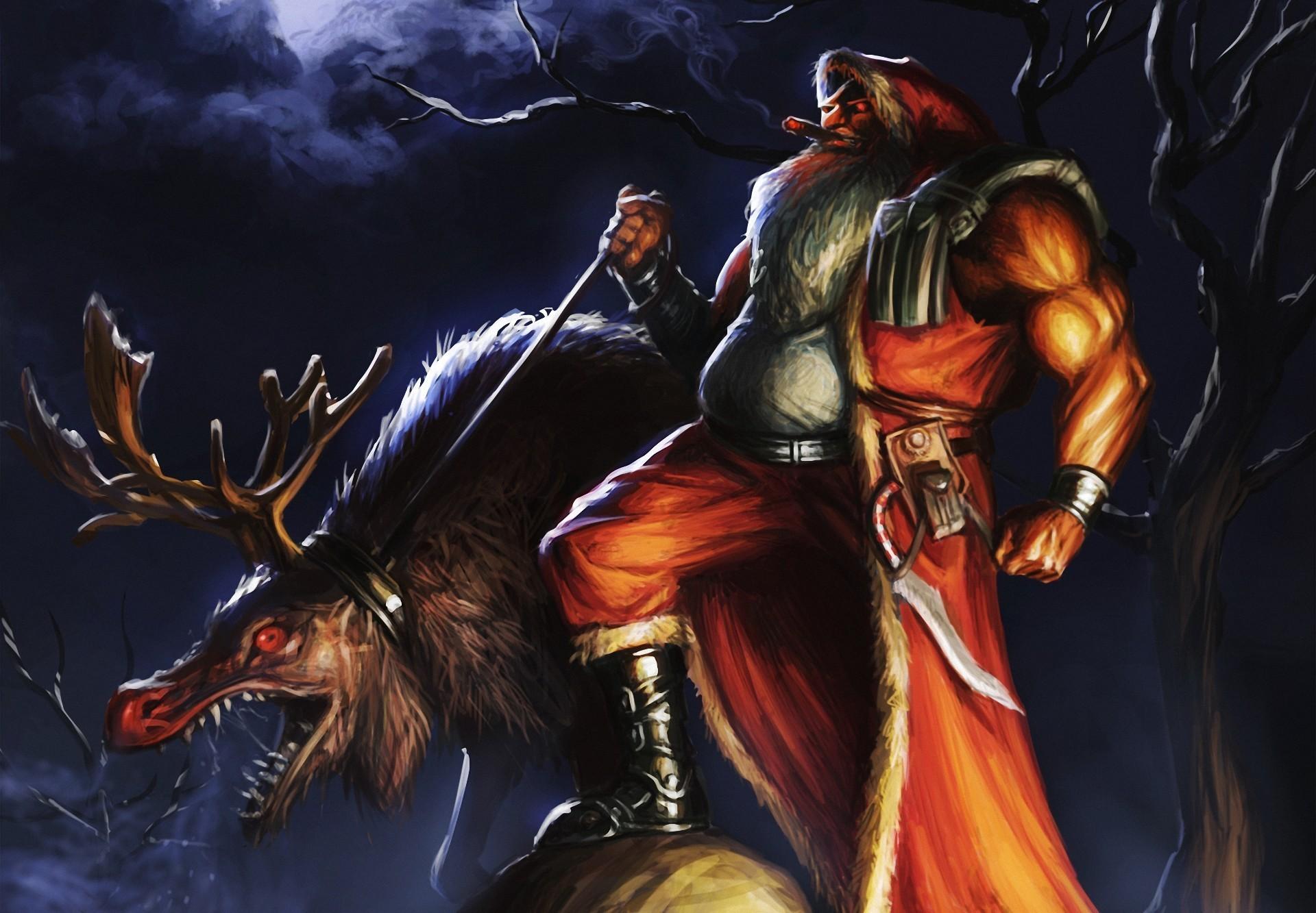 Evil Christmas Wallpaper - WallpaperSafari