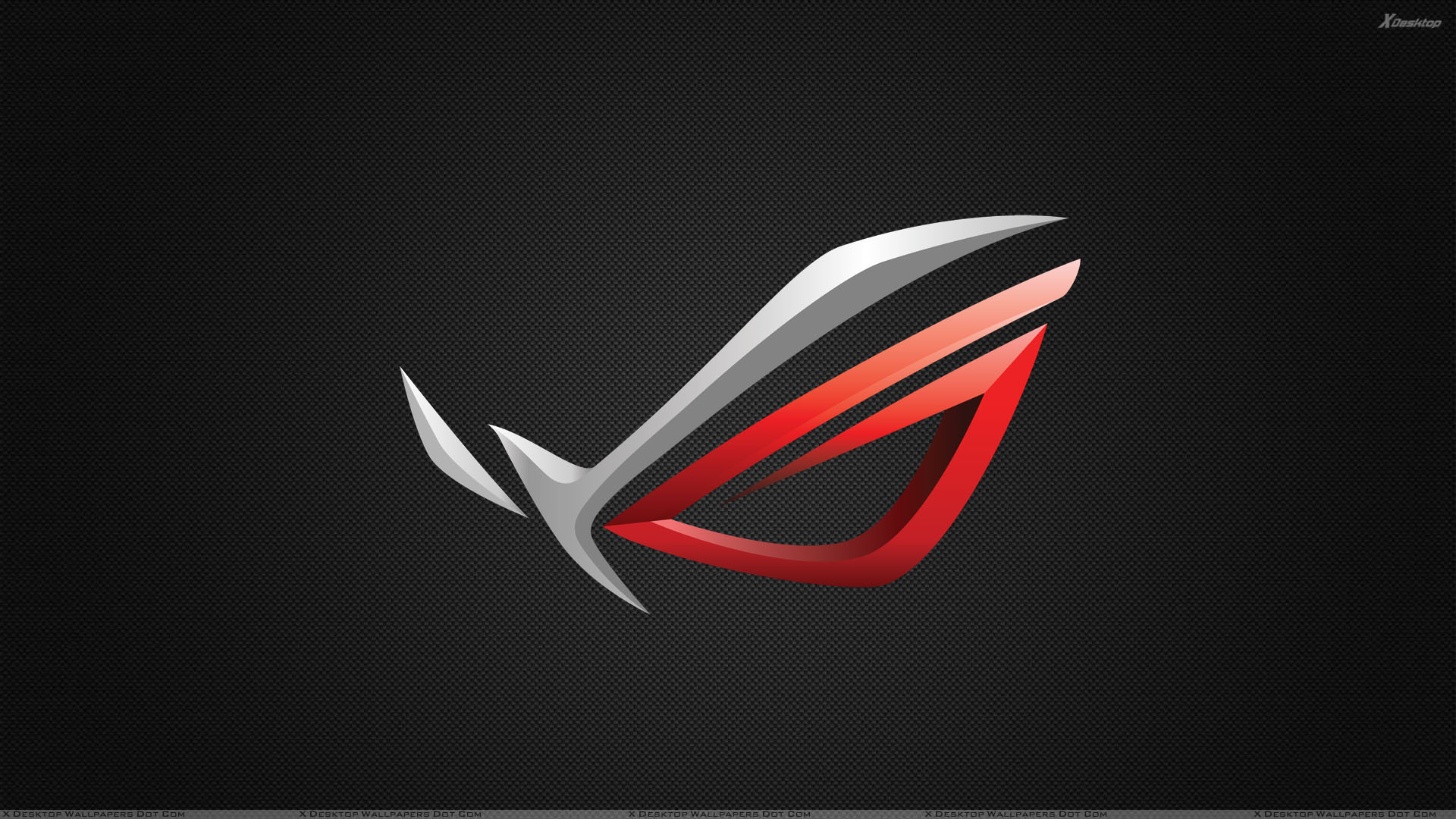 Asus ROG Logo On Black Background Wallpaper 1920x1080