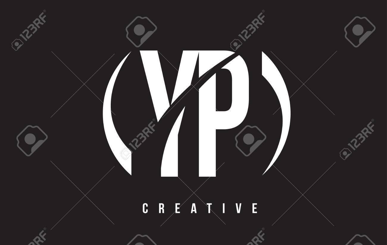 YP Y P White Letter Logo Design With White Background Vector 1300x825