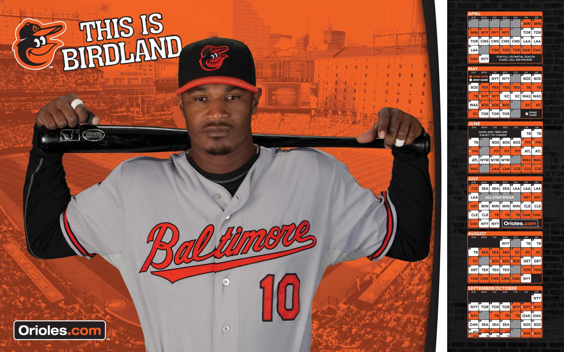 MLB Baltimore Orioles Adam Jones 2012 Schedule 1920x1200 WIDE MLB 1920x1200