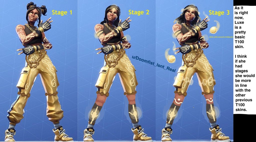 Fortnite Season 8 Battle Pass Tier 100 Luxe Skin Different Styles 1024x569