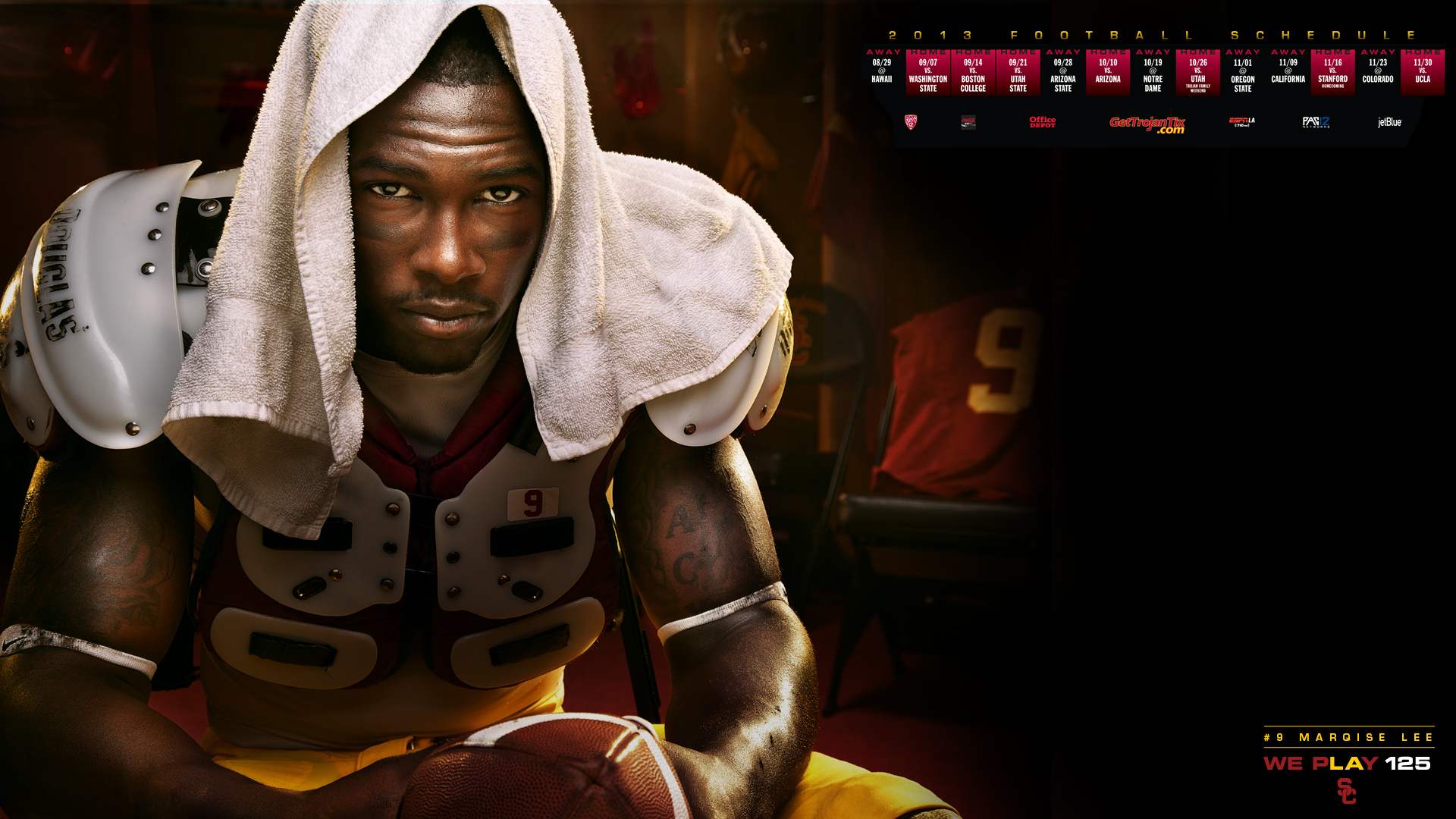 Usc Trojans Football Wallpaper 2013 2013 football schedule poster 1920x1080