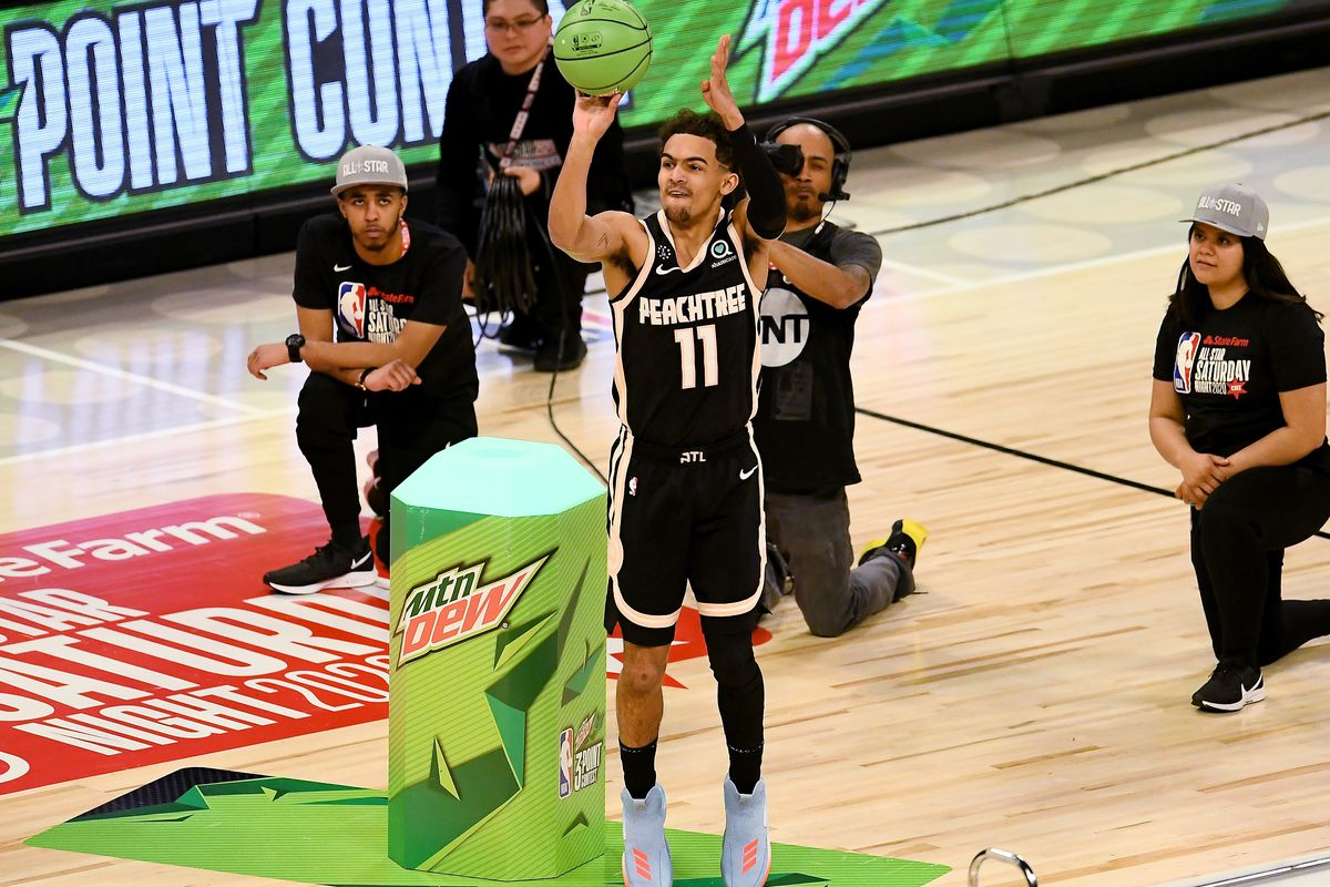 Trae Young eliminated in first round of 3 Point Contest 1200x800