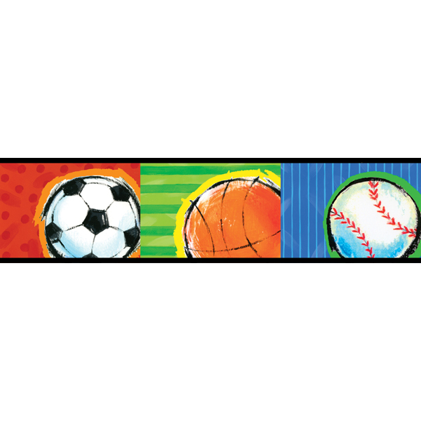 443B97628 Multicolor Sports Border   All Star   Brewster Wallpaper 600x600